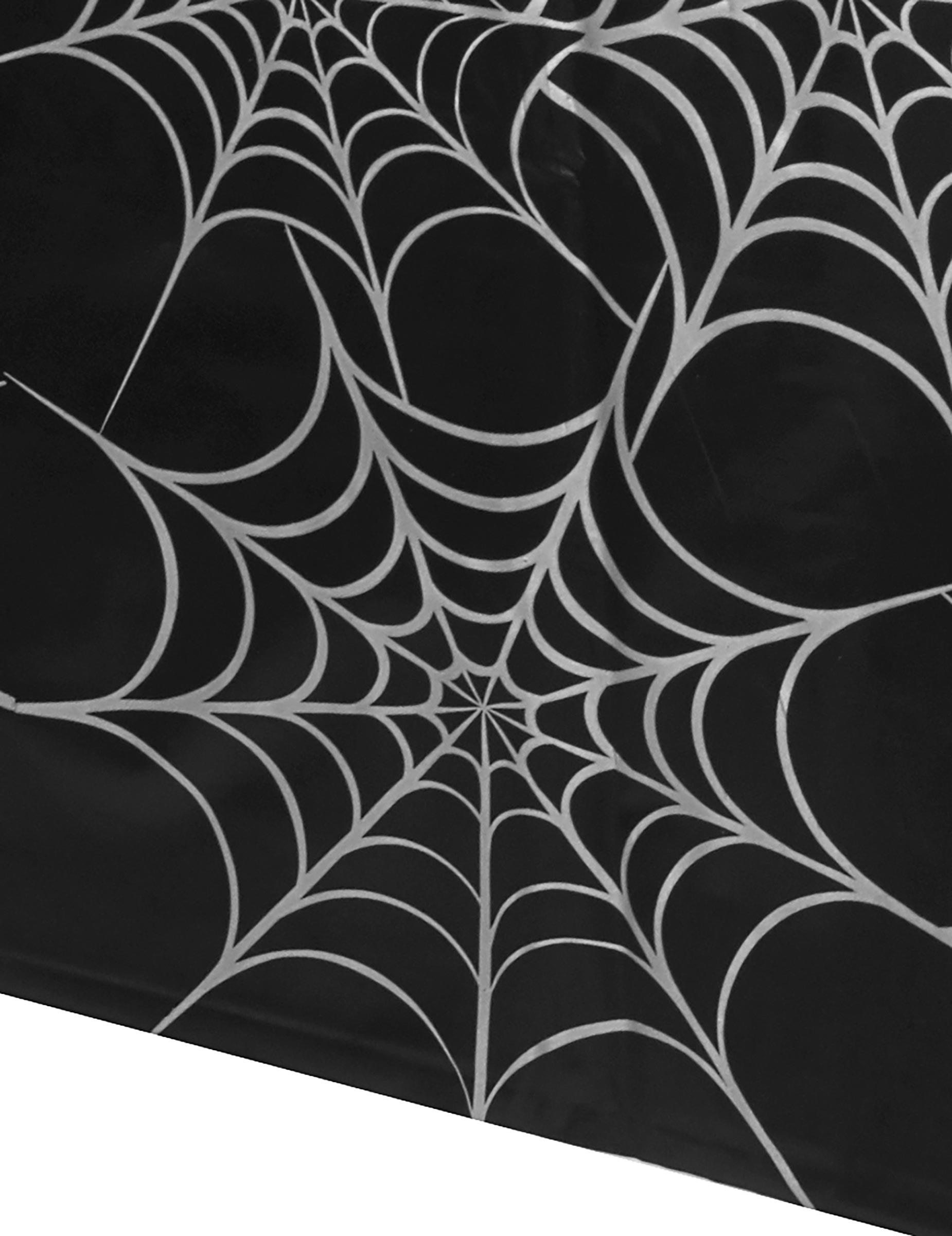 spinnen tischdecke halloween tischdeko spinnennetz schwarz weiss 1 35x2 7m g nstige faschings. Black Bedroom Furniture Sets. Home Design Ideas