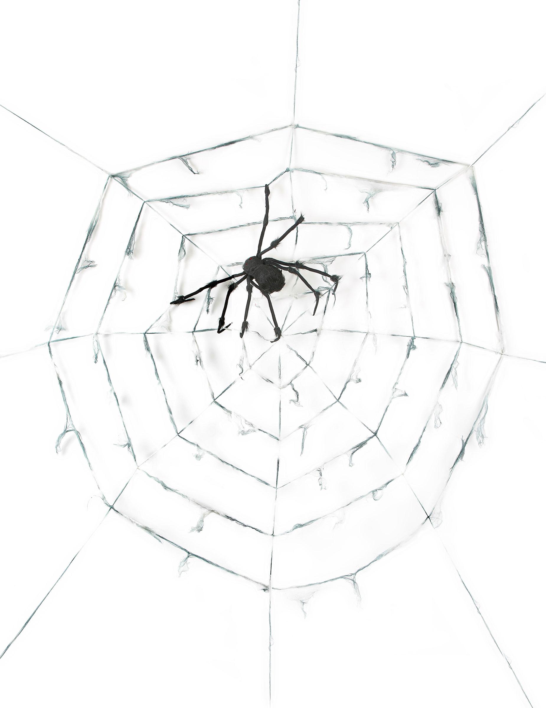 Schauriges Riesen Spinnennetz Halloween Dekoration Weiss Schwarz 2 9m Gunstige Faschings Partydeko Zubehor Bei Karneval Megastore
