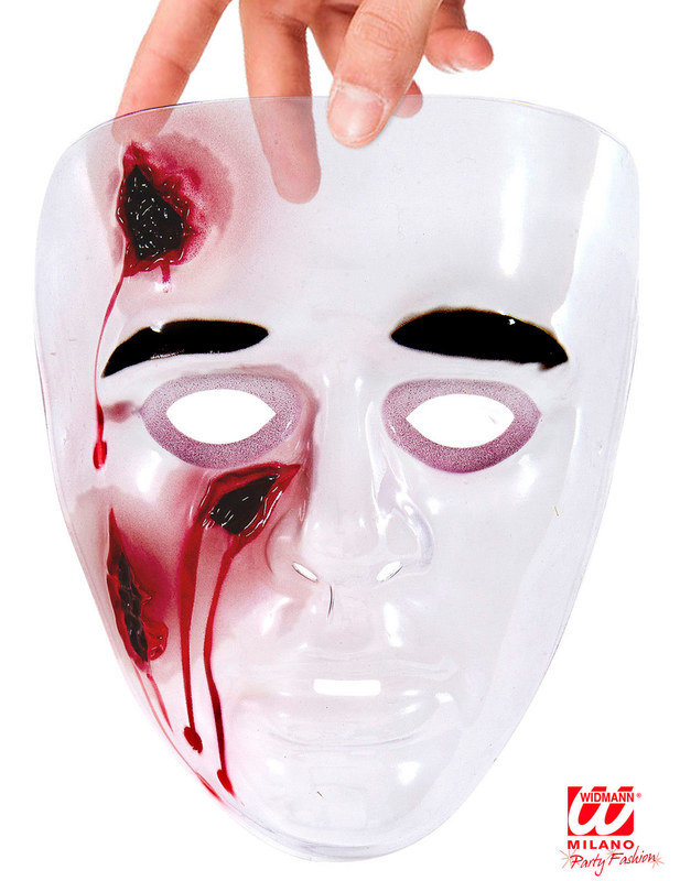 blutige maske mit offenen wunden halloween weiss rot. Black Bedroom Furniture Sets. Home Design Ideas