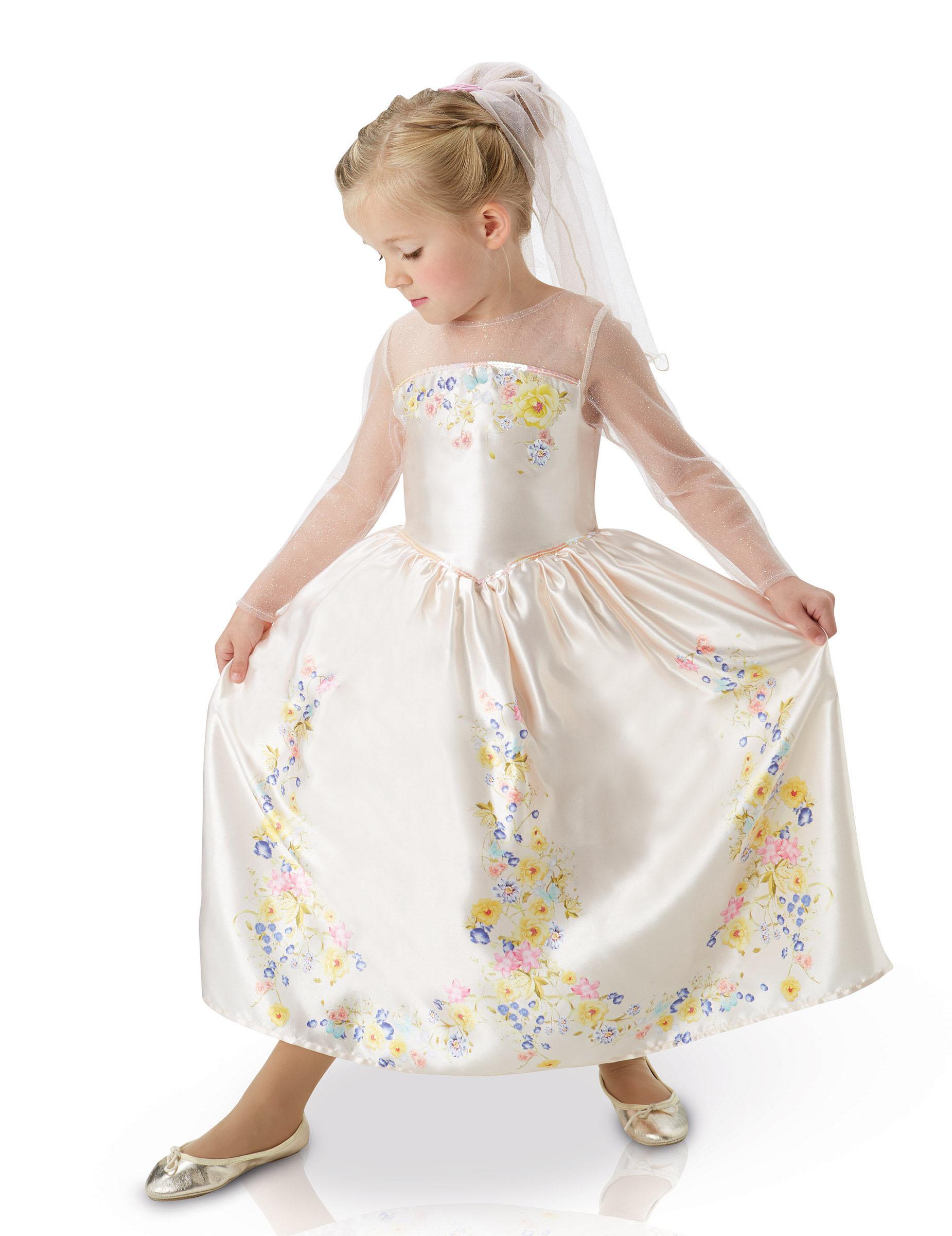 Offizielles Cinderella Mädchen-Hochzeitskleid Braut pastell-weiss
