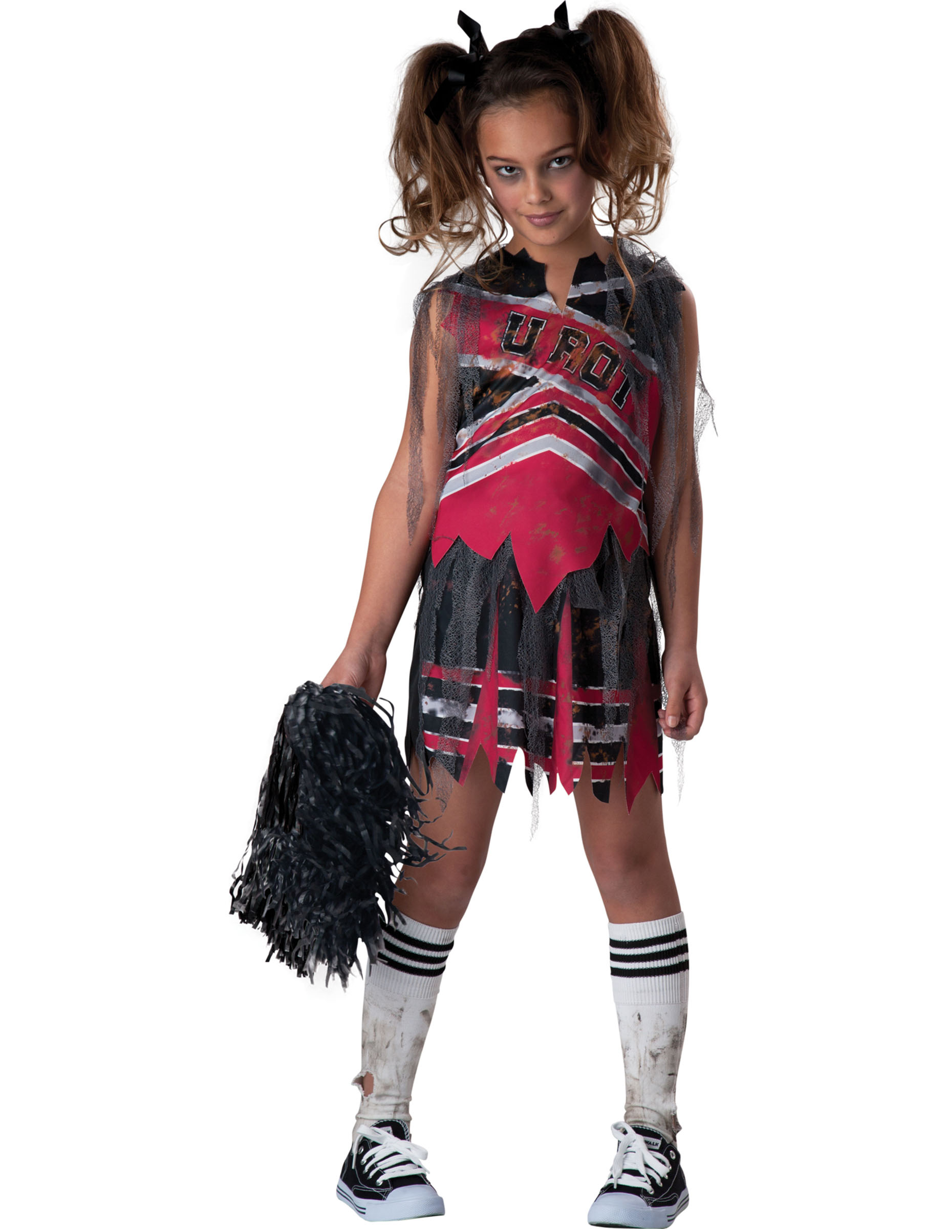 zombie cheerleader halloween kinderkost m schwarz rot weiss g nstige faschings kost me bei. Black Bedroom Furniture Sets. Home Design Ideas