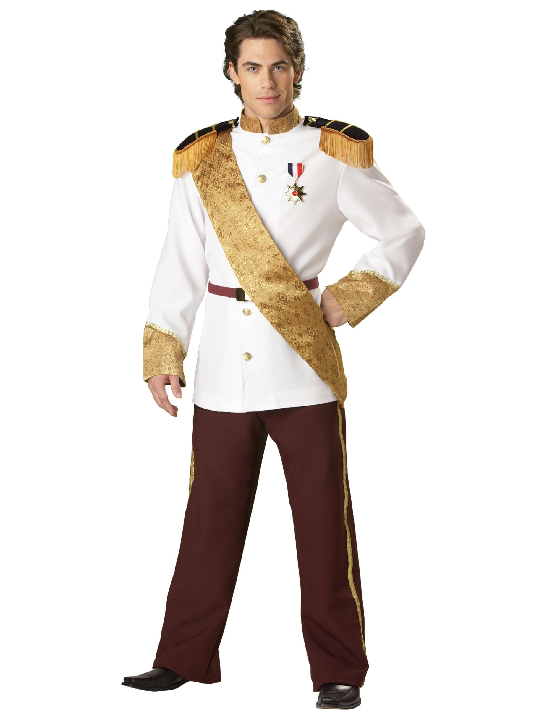 Marchen Prinz Kostum Konig Weiss Gold Gunstige Faschings Kostume