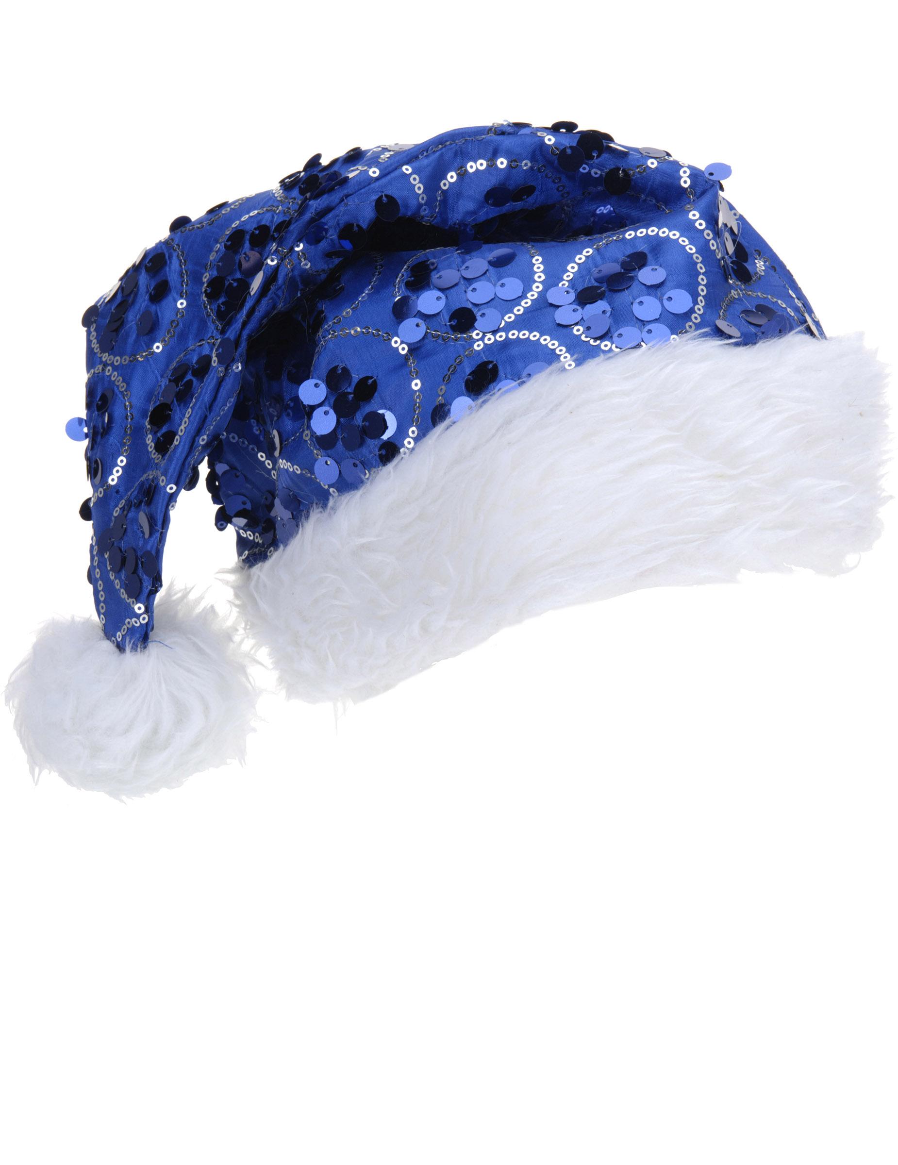 pailletten weihnachtsm tze weihnachtsmann m tze blau weiss. Black Bedroom Furniture Sets. Home Design Ideas