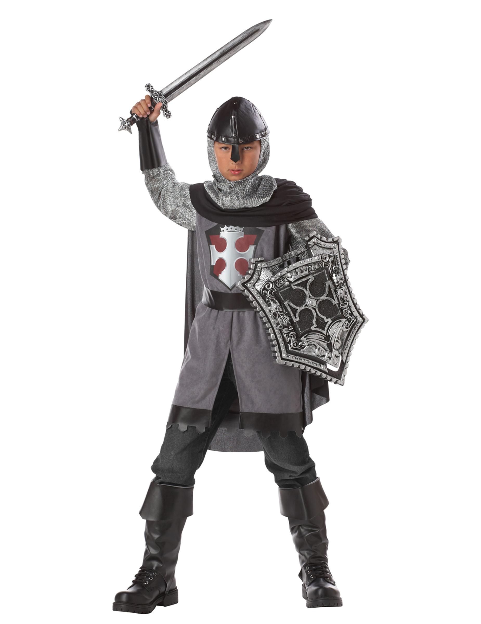 Mutiger Drachenjager Kostum Fur Jungen Silbergrau Gunstige
