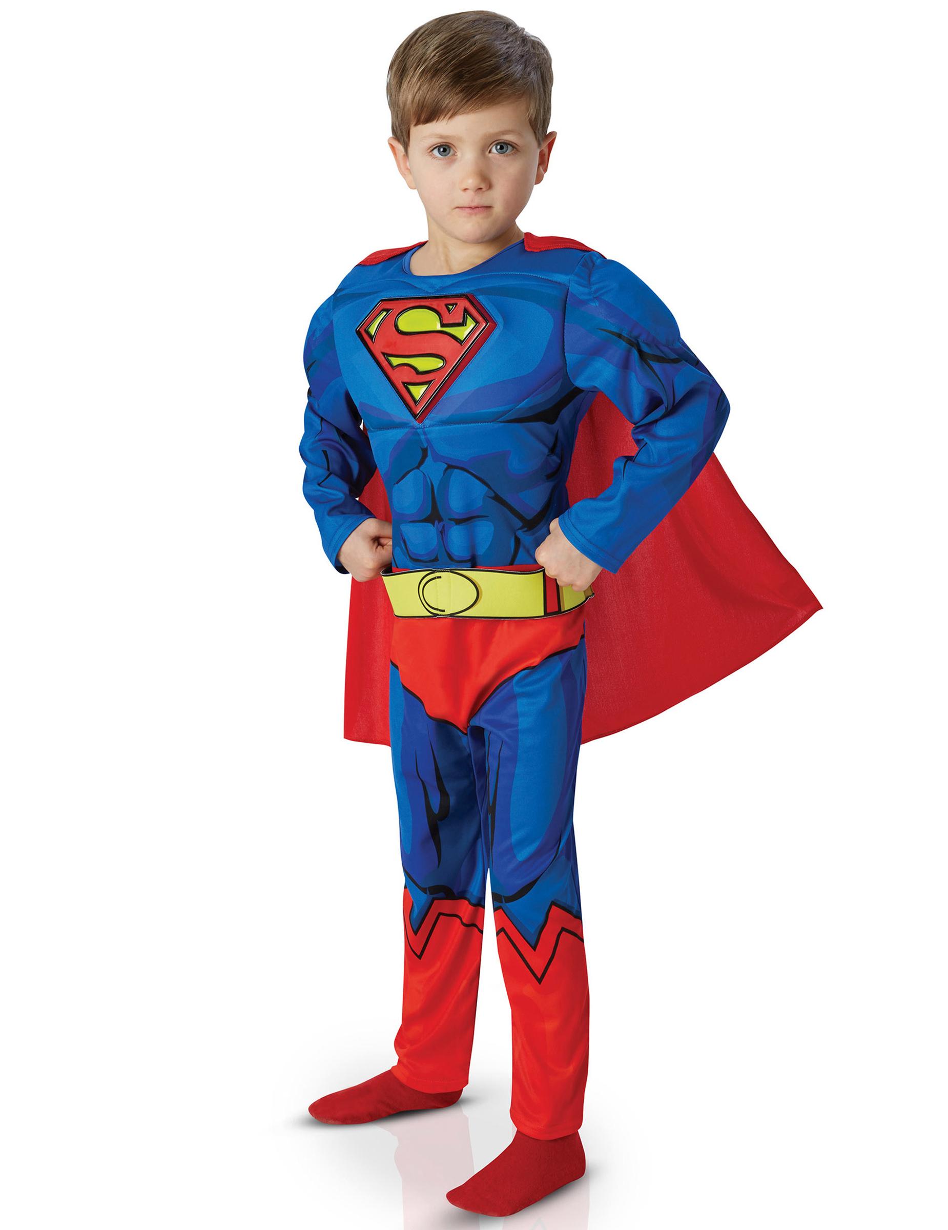 jungen kost m superman comic deluxe blau rot g nstige faschings kost me bei karneval megastore. Black Bedroom Furniture Sets. Home Design Ideas