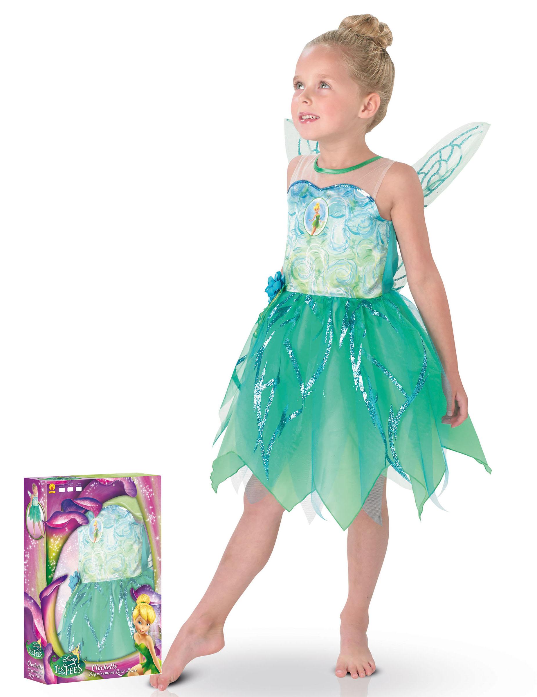 tinkerbell kostum fur kinder in grun und blau