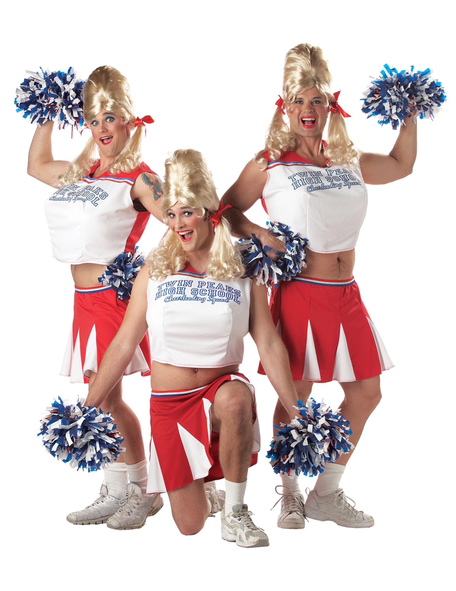 Cheerleader Mannerballett Kostum Rot Weiss Blau Gunstige Faschings