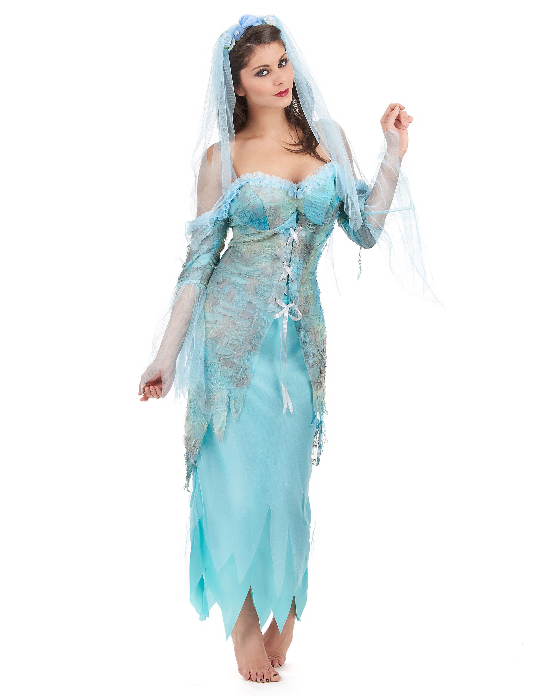 Wasser Fee Damenkostum Nixe Blau Grau Gunstige Faschings Kostume