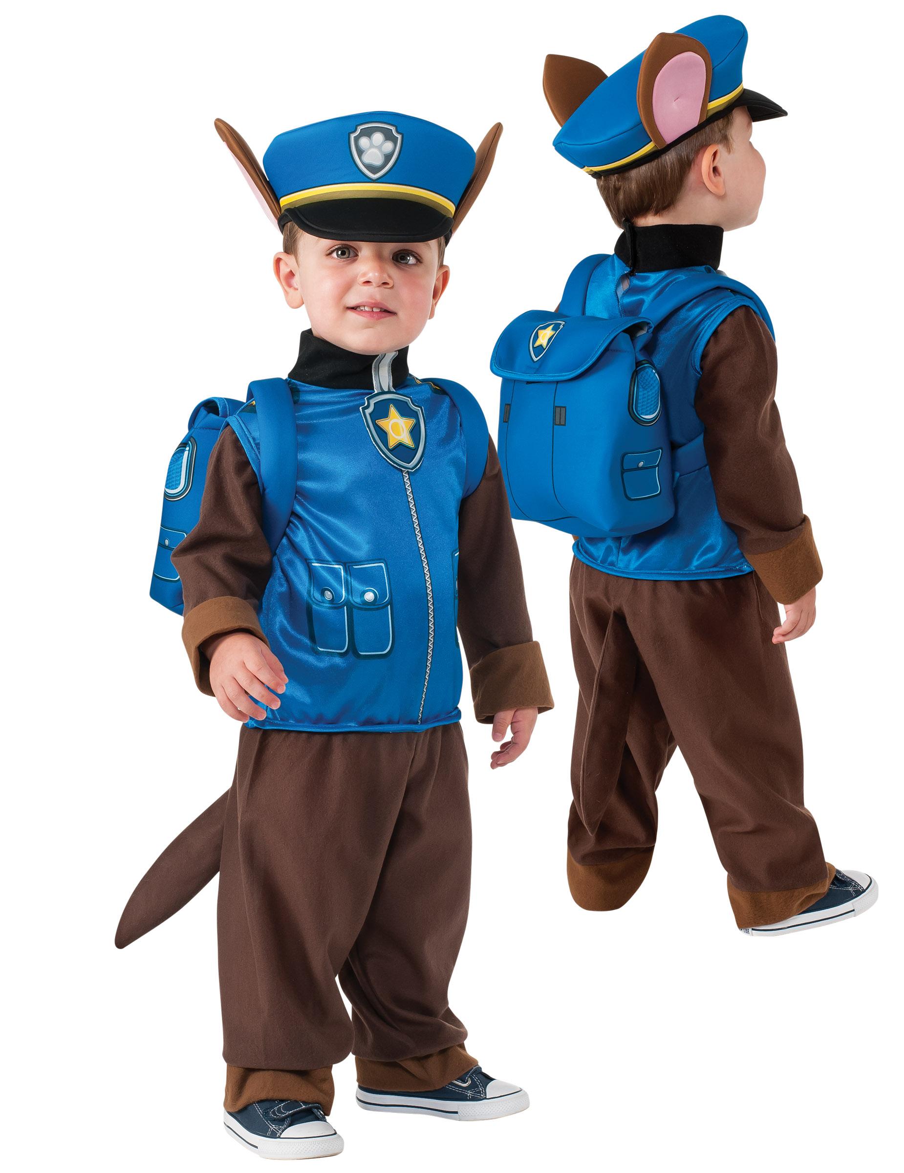 Kinder Polizisten Kostum Chase Aus Paw Patrol Blau Gunstige