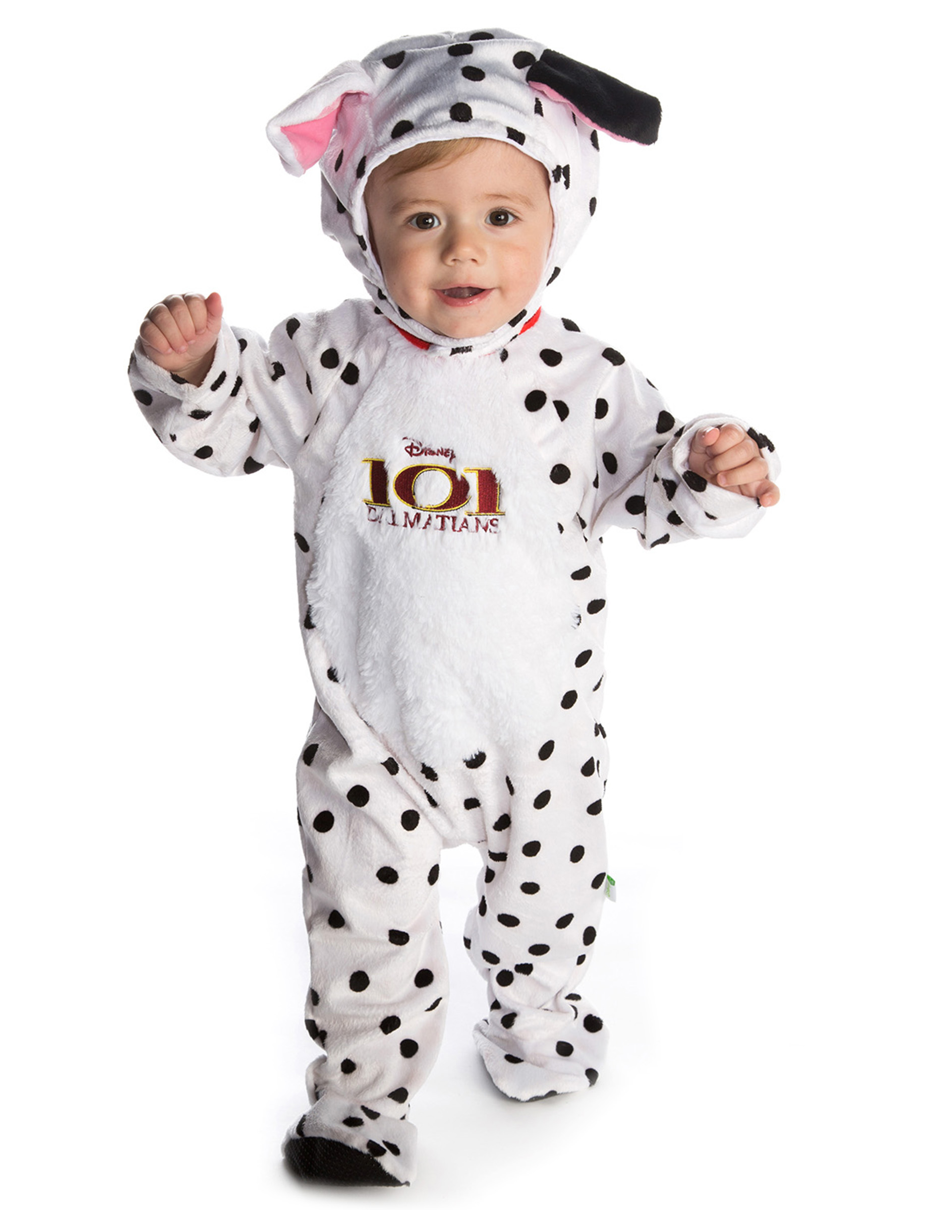 101-Dalmatiner-Kostüm für Babys, weiß-schwarz