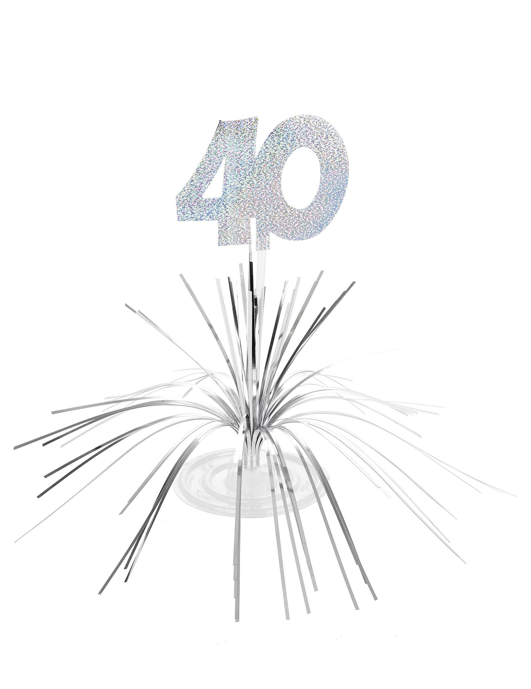 Tischdeko Zum 40sten Geburtstag Silber 29 X 30cm Gunstige