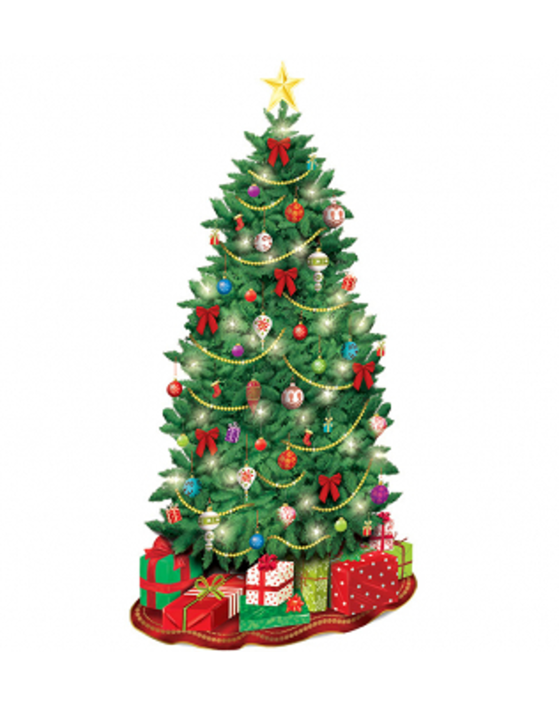 Weihnachtsbaum Weihnachten.Geschmückter Weihnachtsbaum Wanddeko Weihnachten