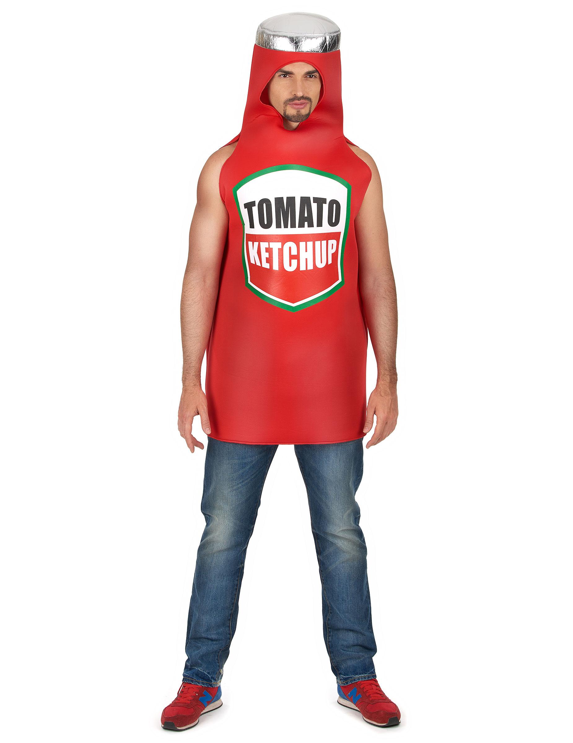 ketchup flasche unisex kost m rot g nstige faschings kost me bei karneval megastore. Black Bedroom Furniture Sets. Home Design Ideas