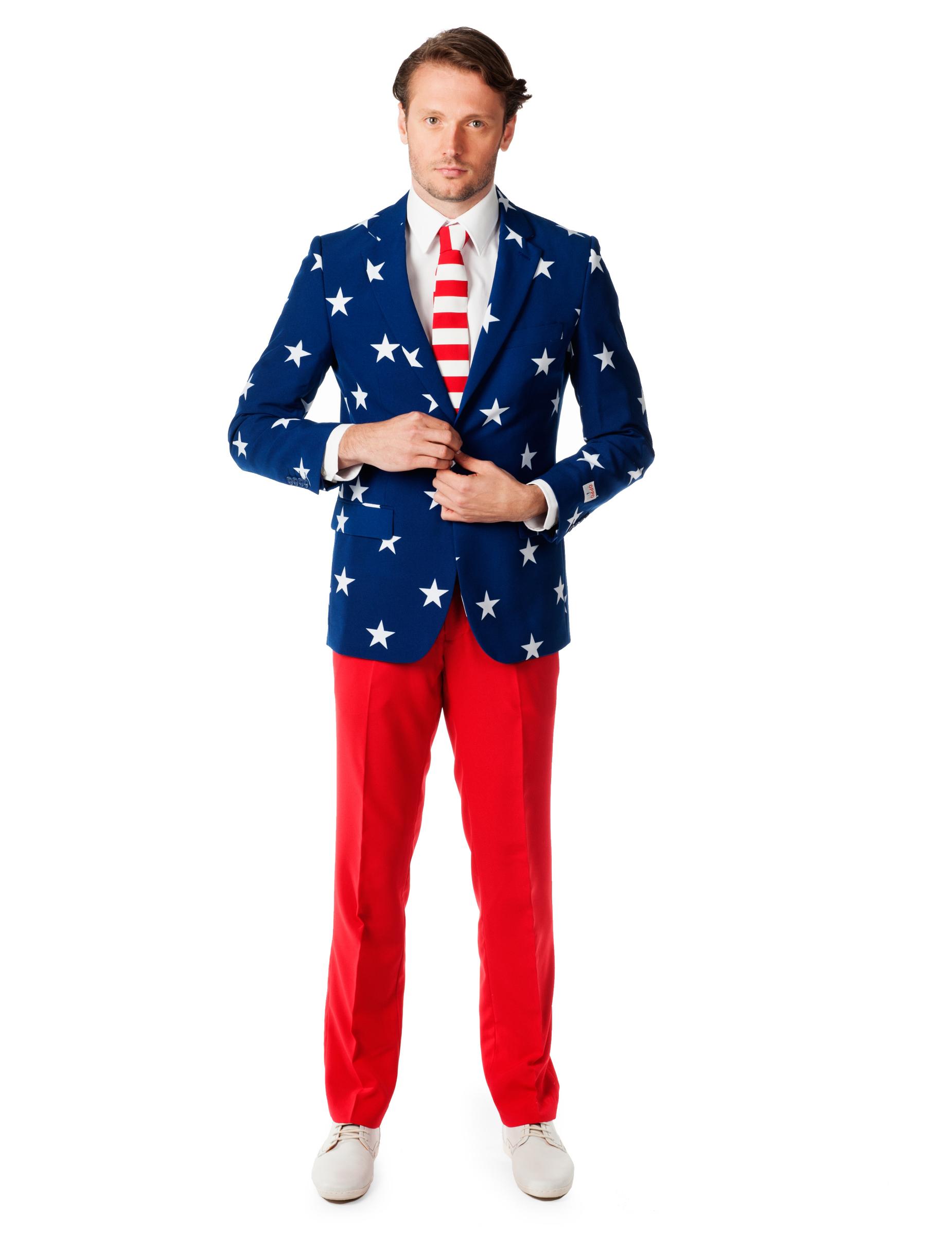 Opposuits Blau Anzug Rot Herren Usa tBoshQxdrC