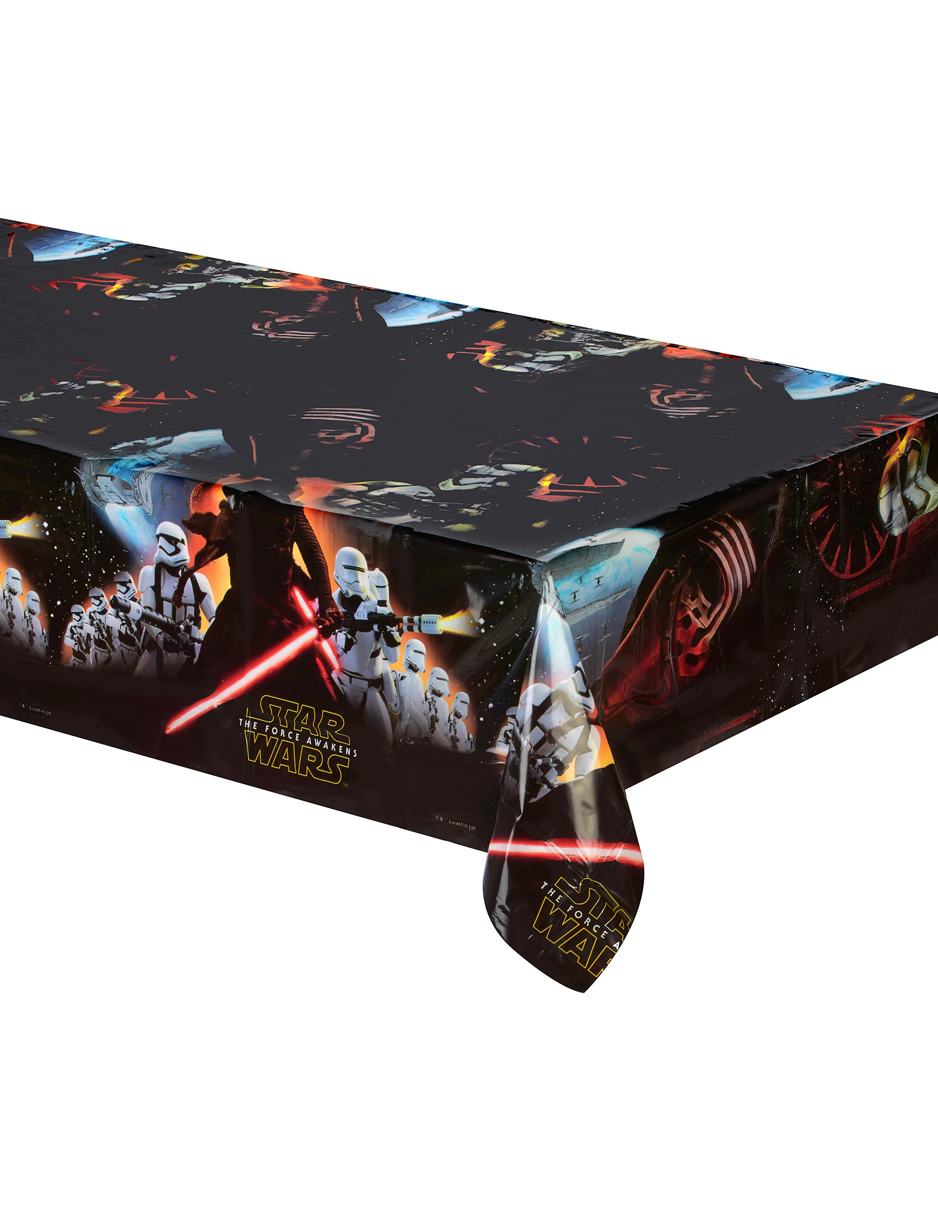 tischdecke star wars lizenzartikel vii kunststoff mehrfahrbig 120 x 180 cm g nstige faschings. Black Bedroom Furniture Sets. Home Design Ideas