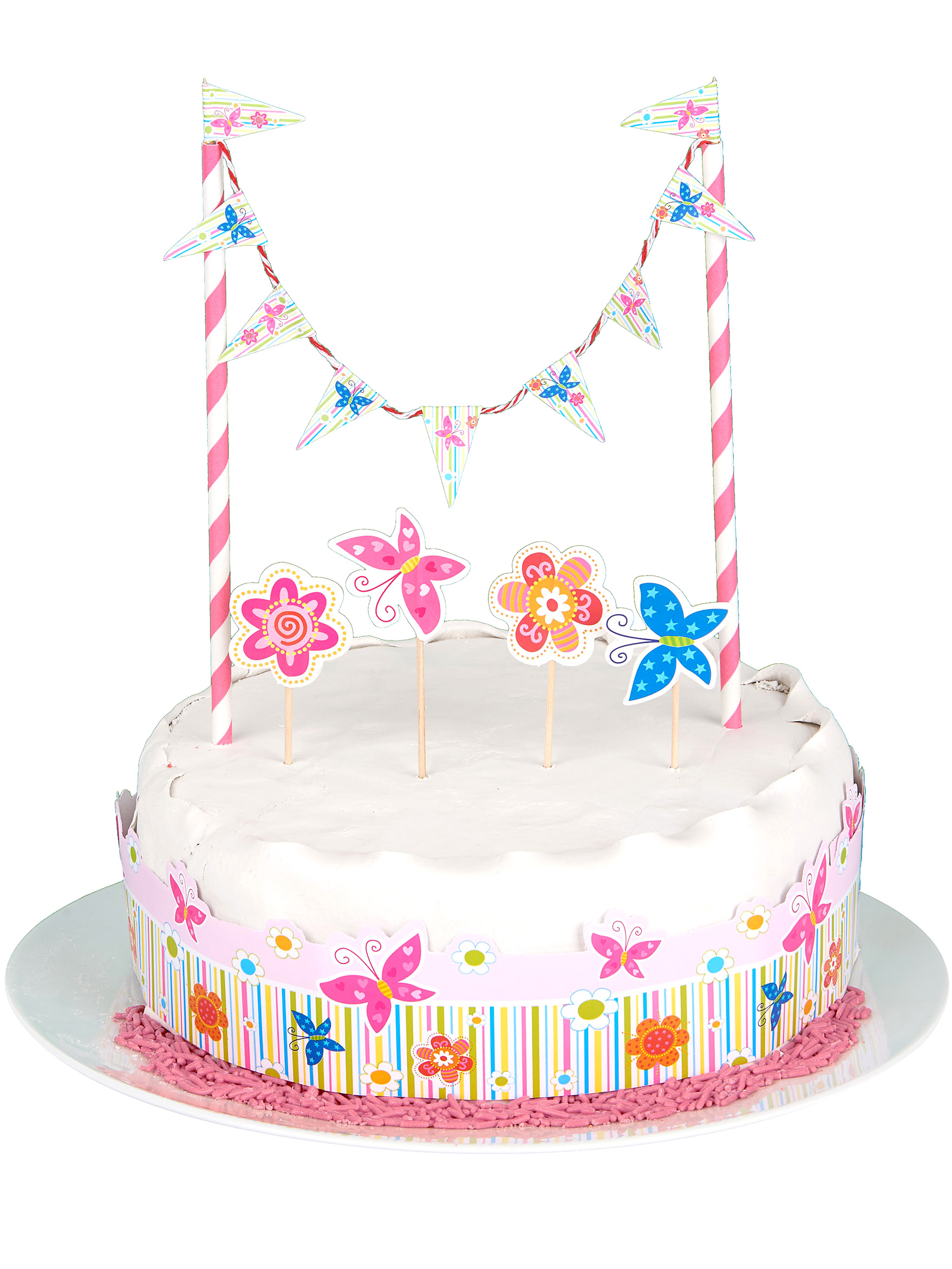 Kuchen Dekoration Geburtstag Fur Madchen 7 Teilig Bunt Gunstige