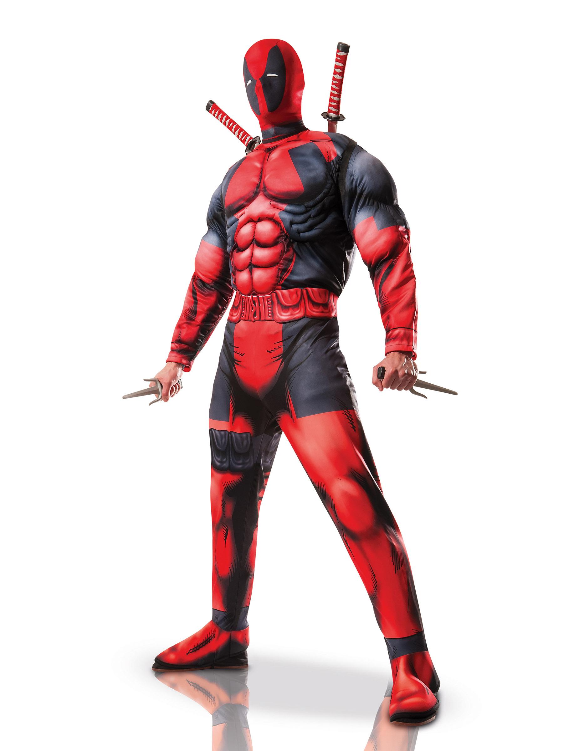 Deadpool Kostum Marvel Comic Lizenzartikel Schwarz Rot Gunstige