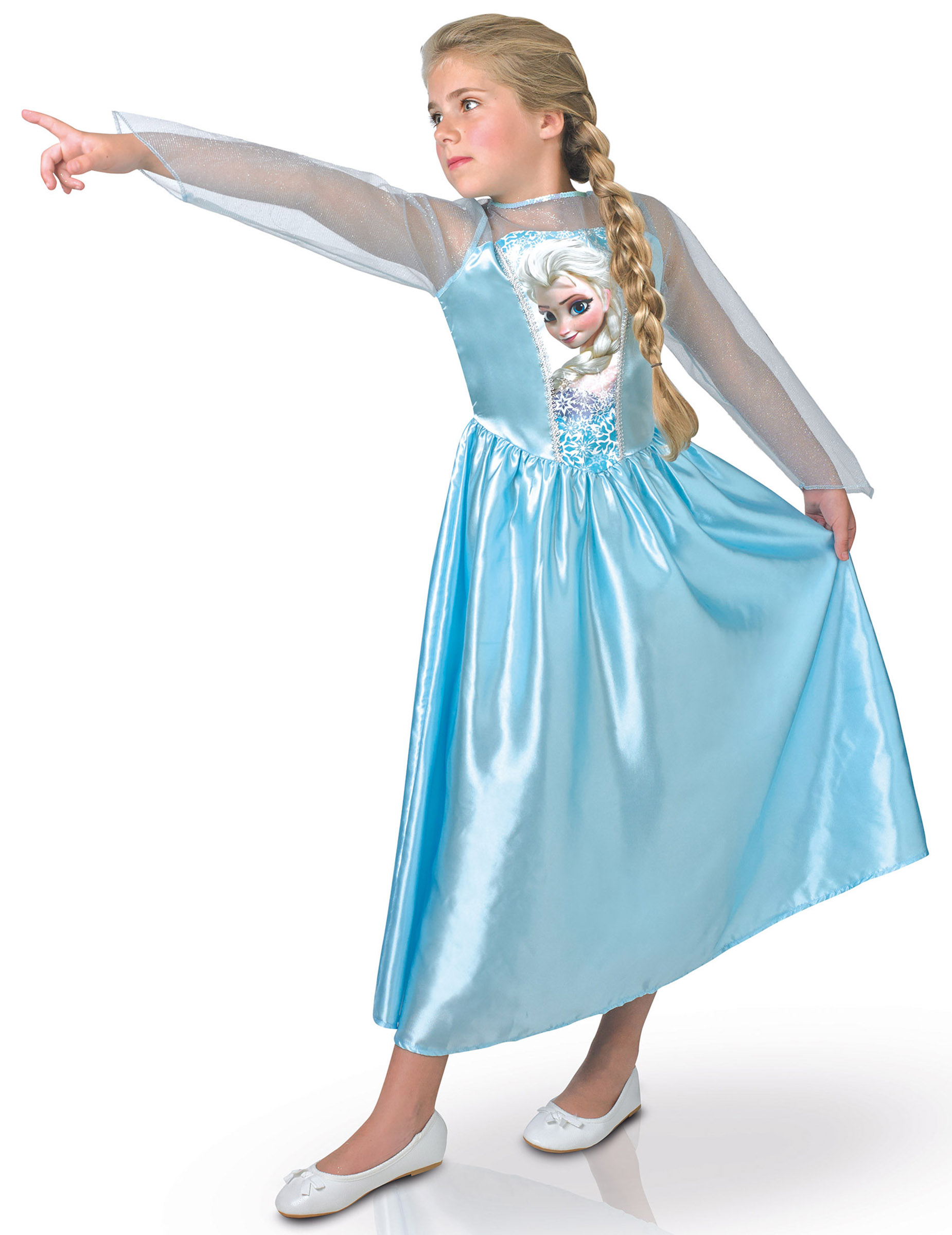 Elsa Frozen Die Eiskonigin Madchenkostum Prinzessinverkleidung Blau