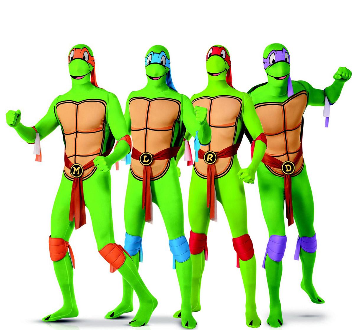 Ninja Turtles Lizenz Kost 252 M Set F 252 R Gruppen Gr 252 N Bunt