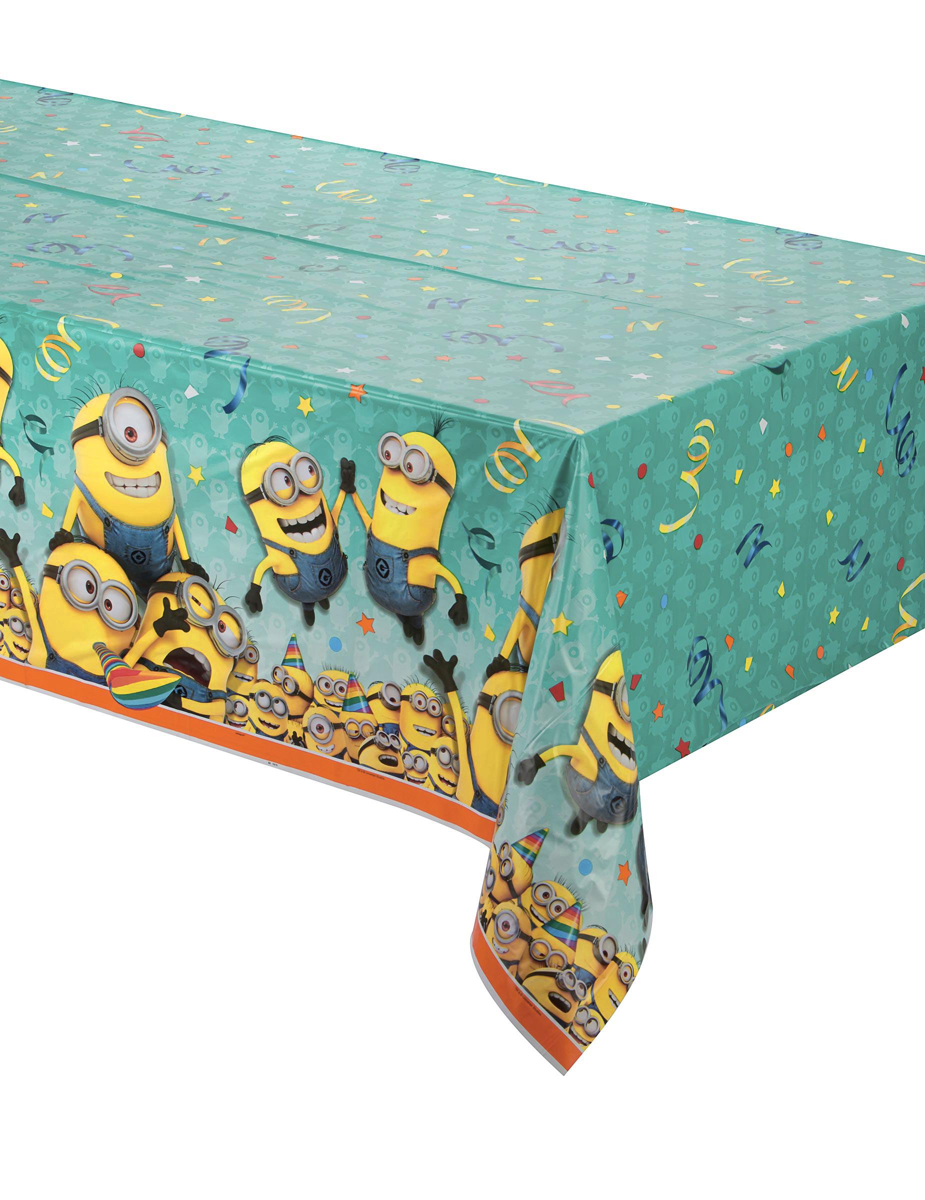 lizenzartikel minions tischdecke bunt 137 x 213cm. Black Bedroom Furniture Sets. Home Design Ideas