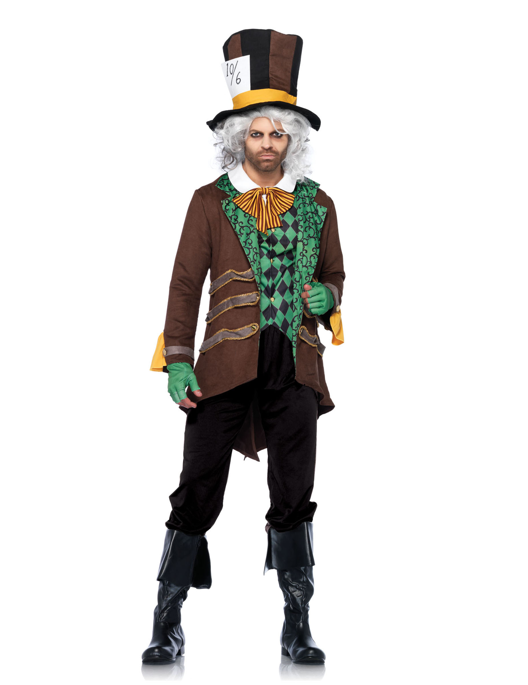 Verruckter Hutmacher Kostum Marchen Braun Grun Gunstige Faschings