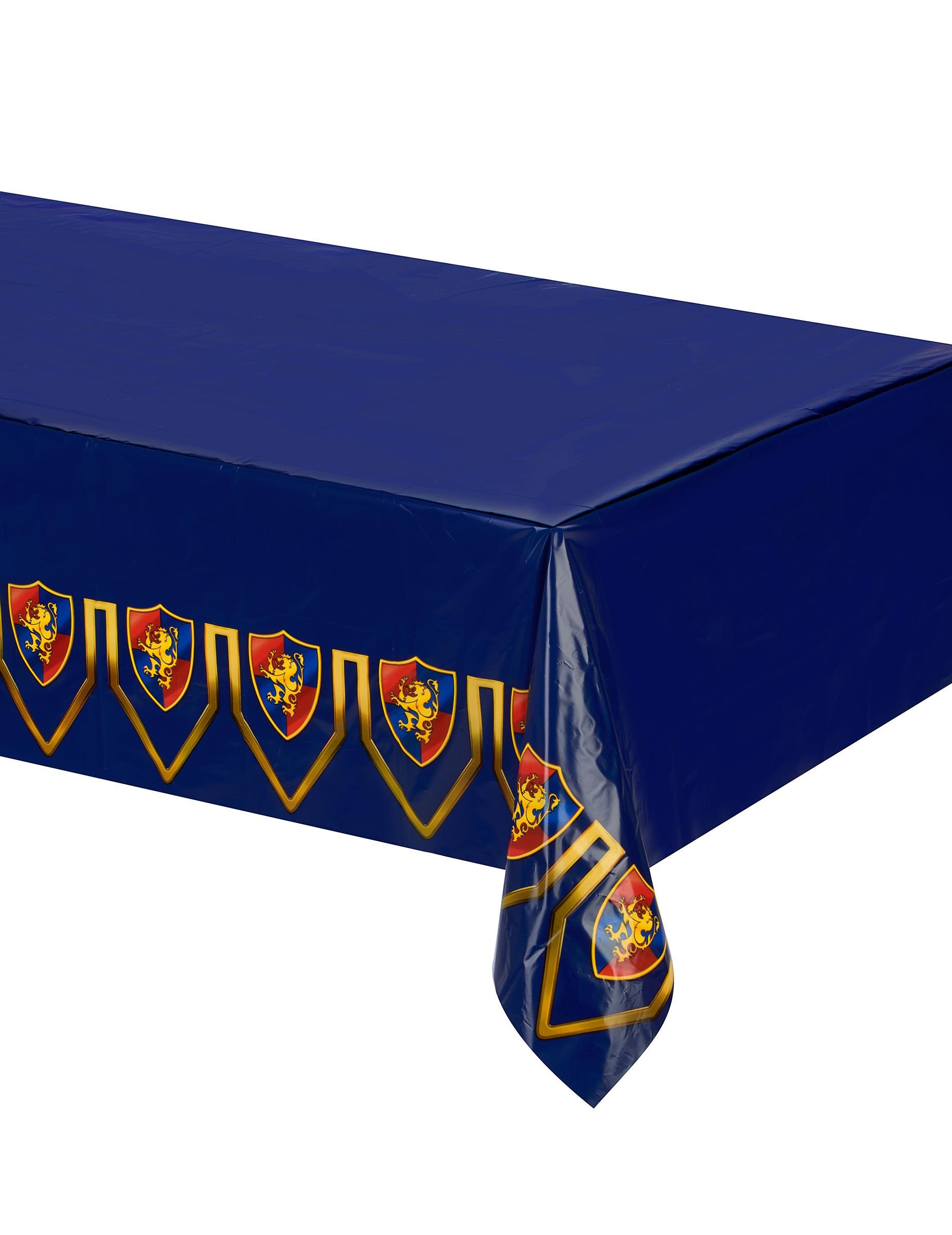 Mittelalter Tischdecke Kindergeburtstag Tischdeko Blau Bunt 1 37x2