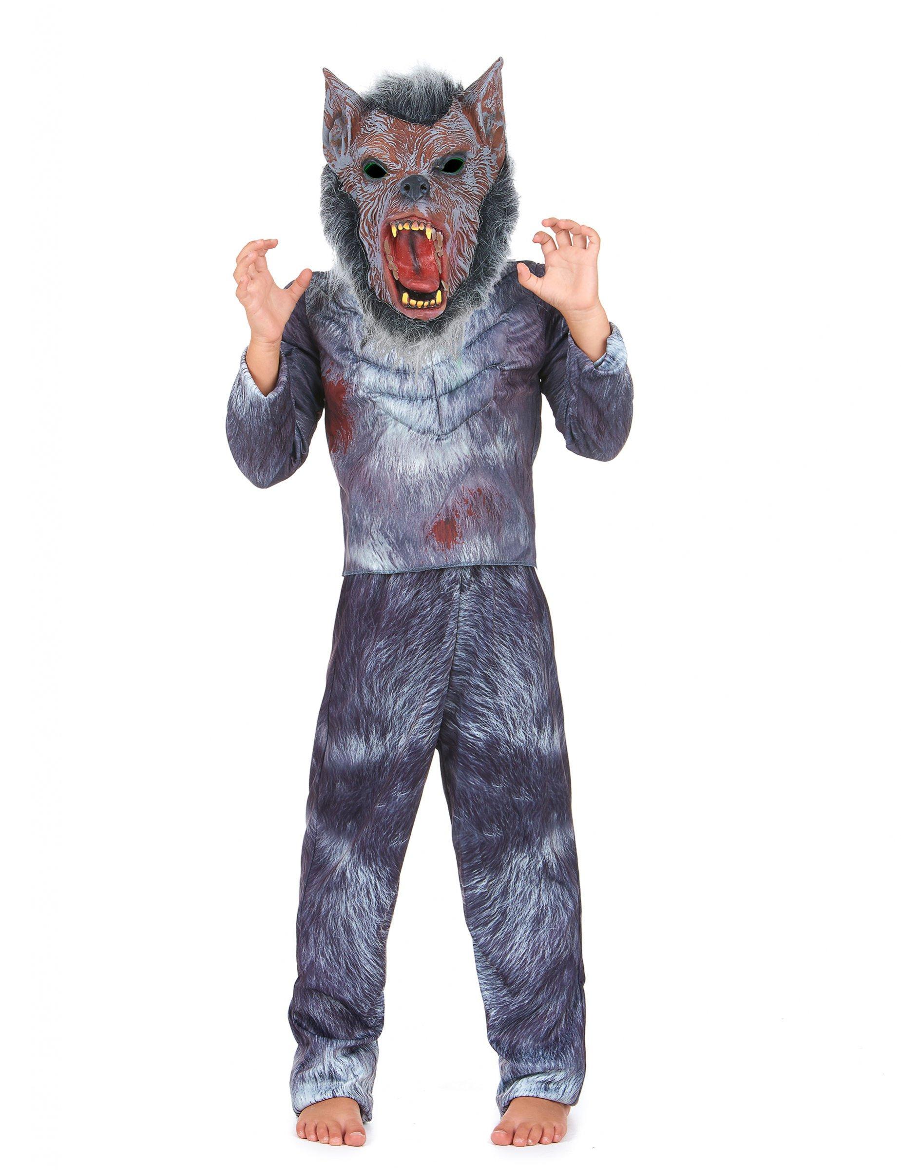 werwolf halloween kinderkost m grau braun g nstige faschings kost me bei karneval megastore. Black Bedroom Furniture Sets. Home Design Ideas