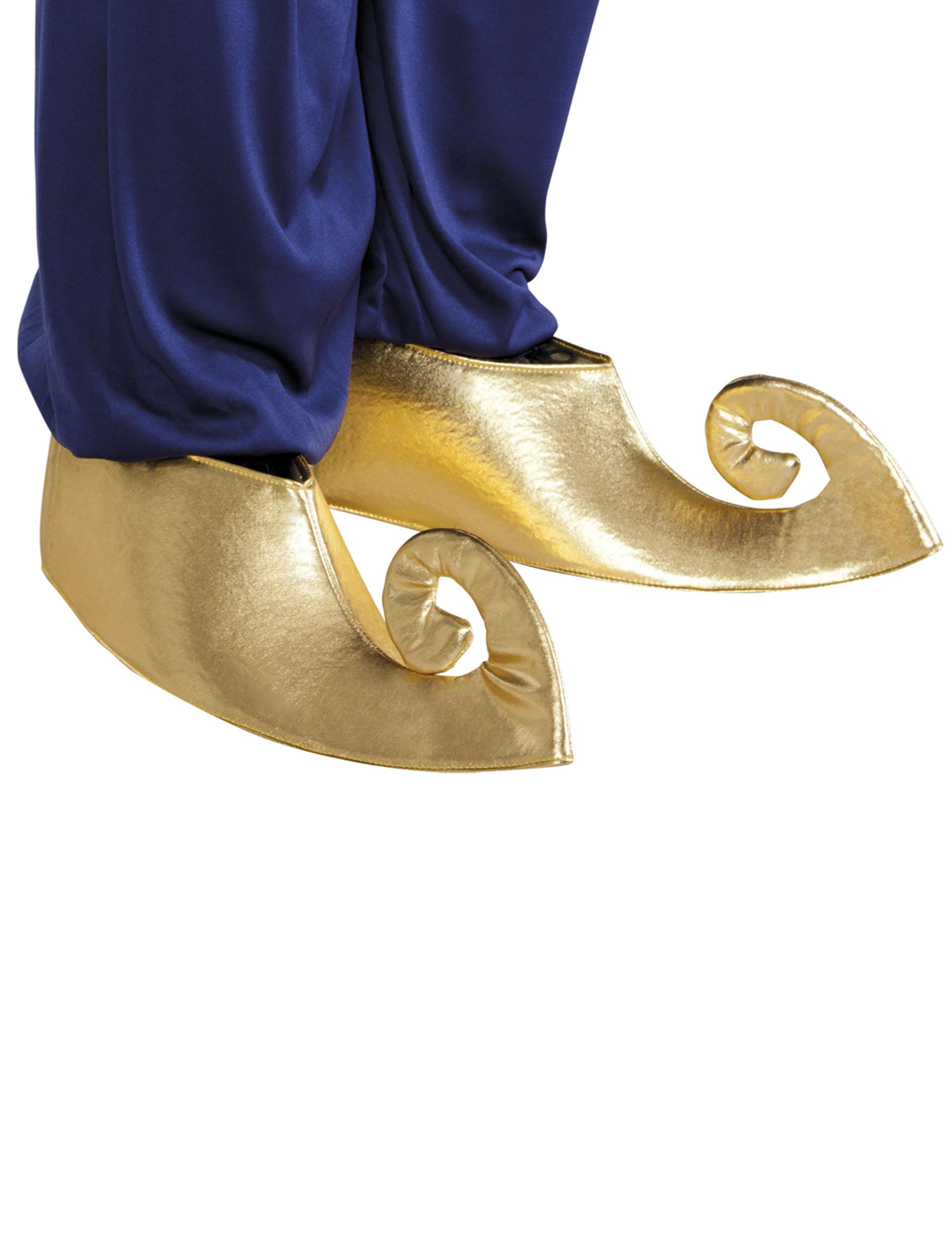 Orientalische Schuh Stulpen gold