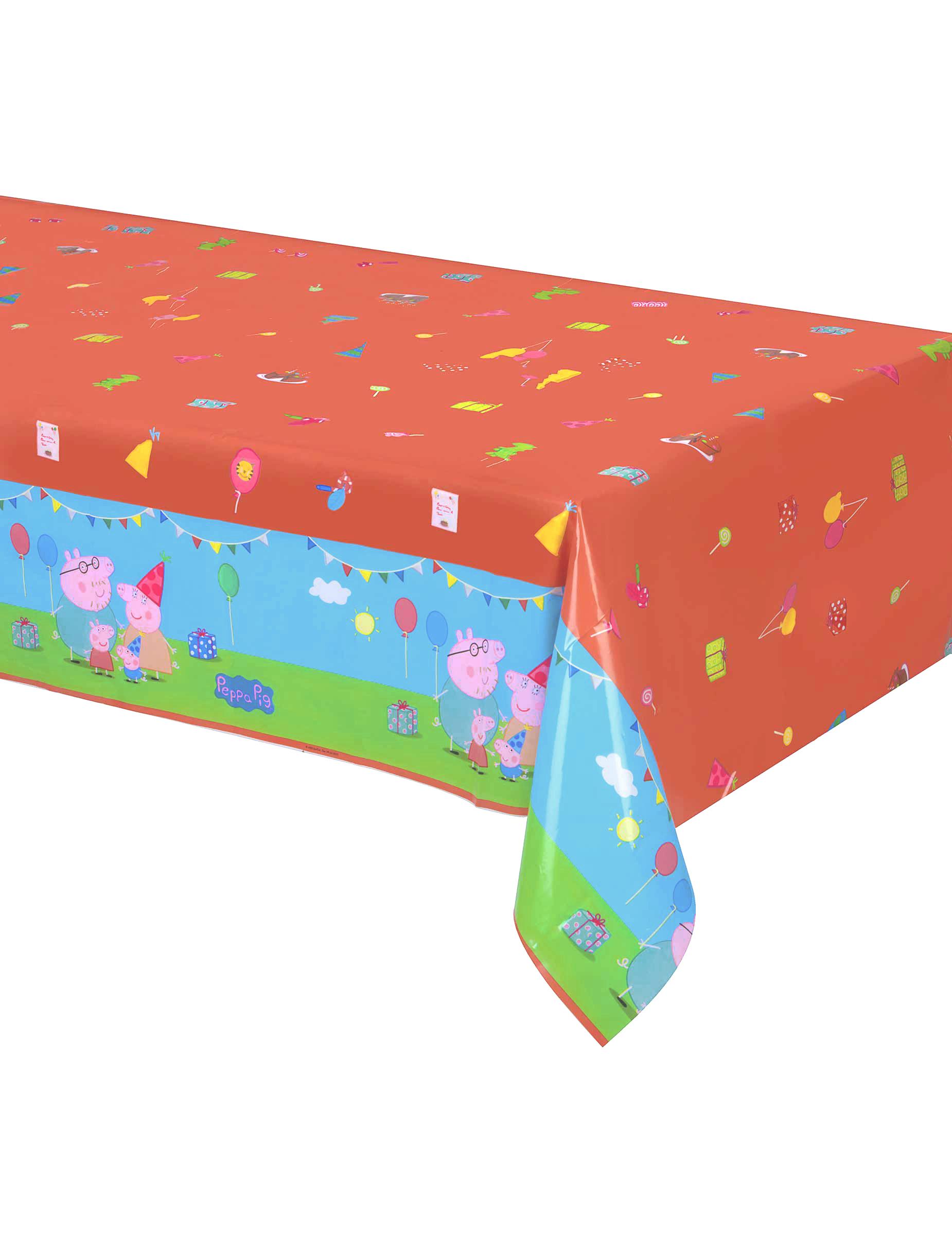 peppa wutz kindergeburtstags tischdecke bunt 130 x 180cm g nstige faschings partydeko. Black Bedroom Furniture Sets. Home Design Ideas