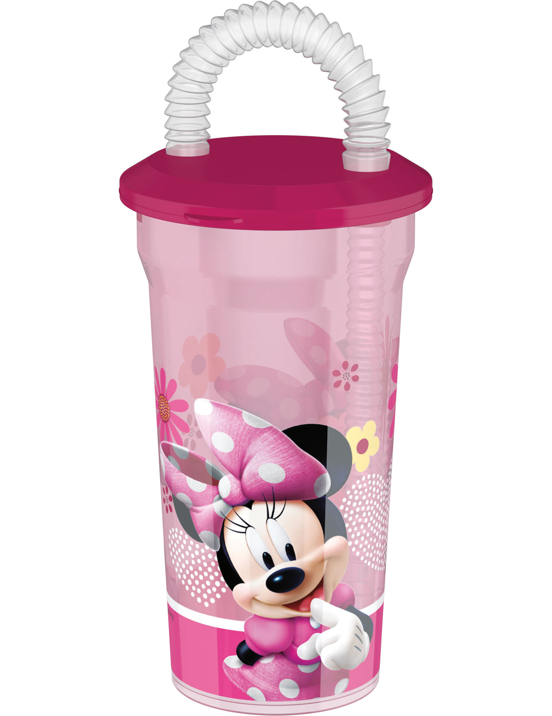minnie maus becher mit trinkhalm g nstige faschings partydeko zubeh r bei karneval megastore. Black Bedroom Furniture Sets. Home Design Ideas