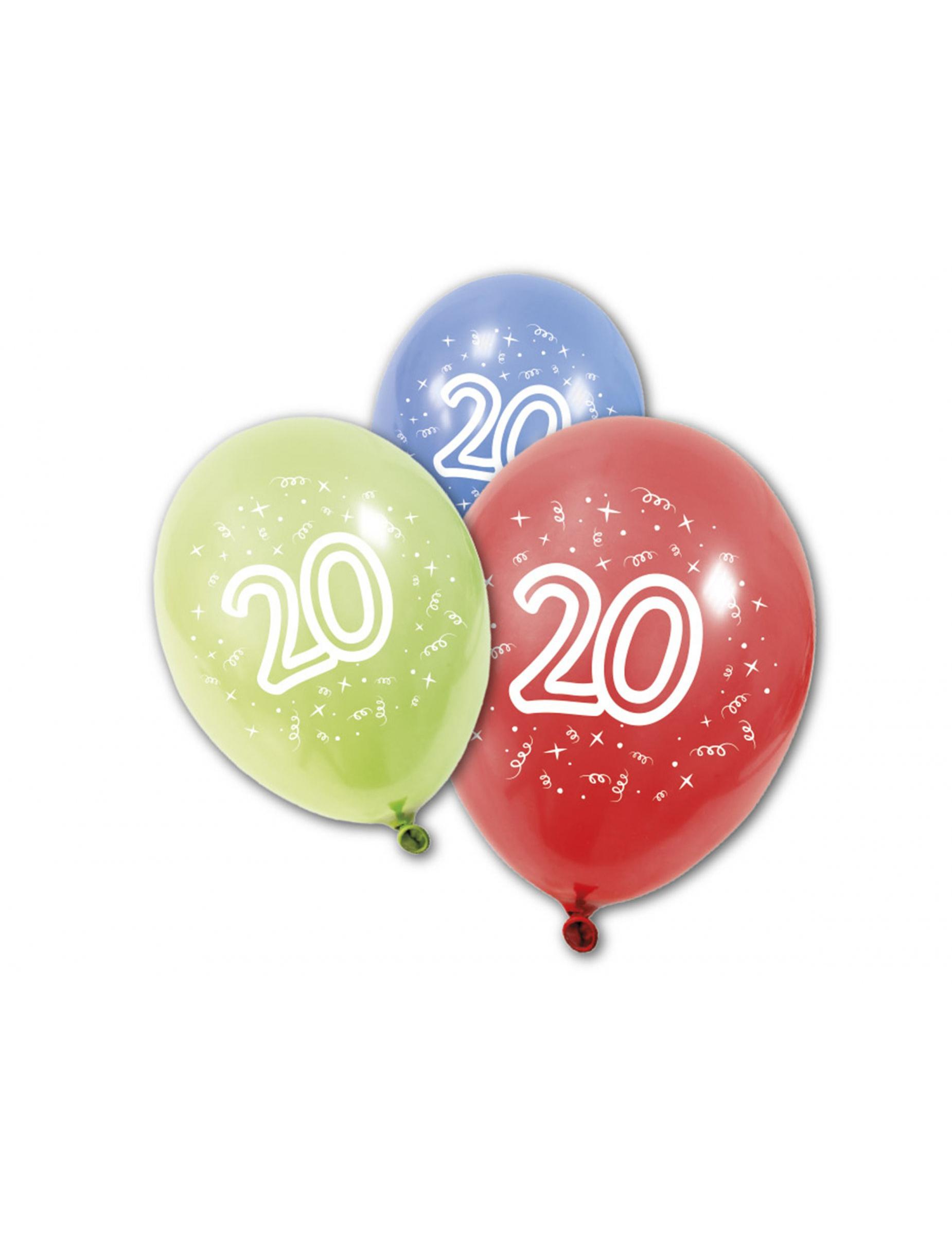 Geburtstags Luftballons 20 Jahre 8 Stück