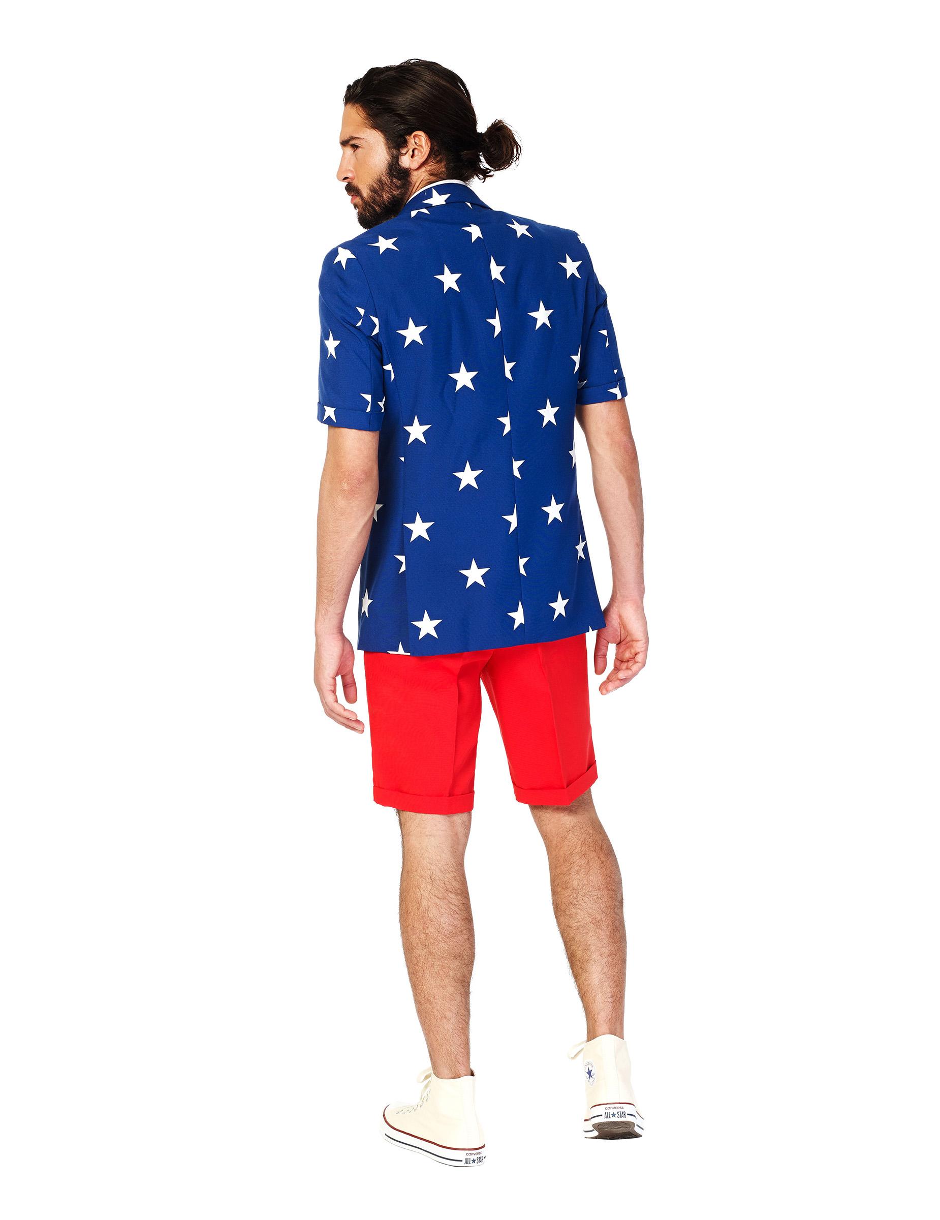 opposuits sommeranzug f r herren amerika anzug blau weiss rot g nstige faschings kost me bei. Black Bedroom Furniture Sets. Home Design Ideas