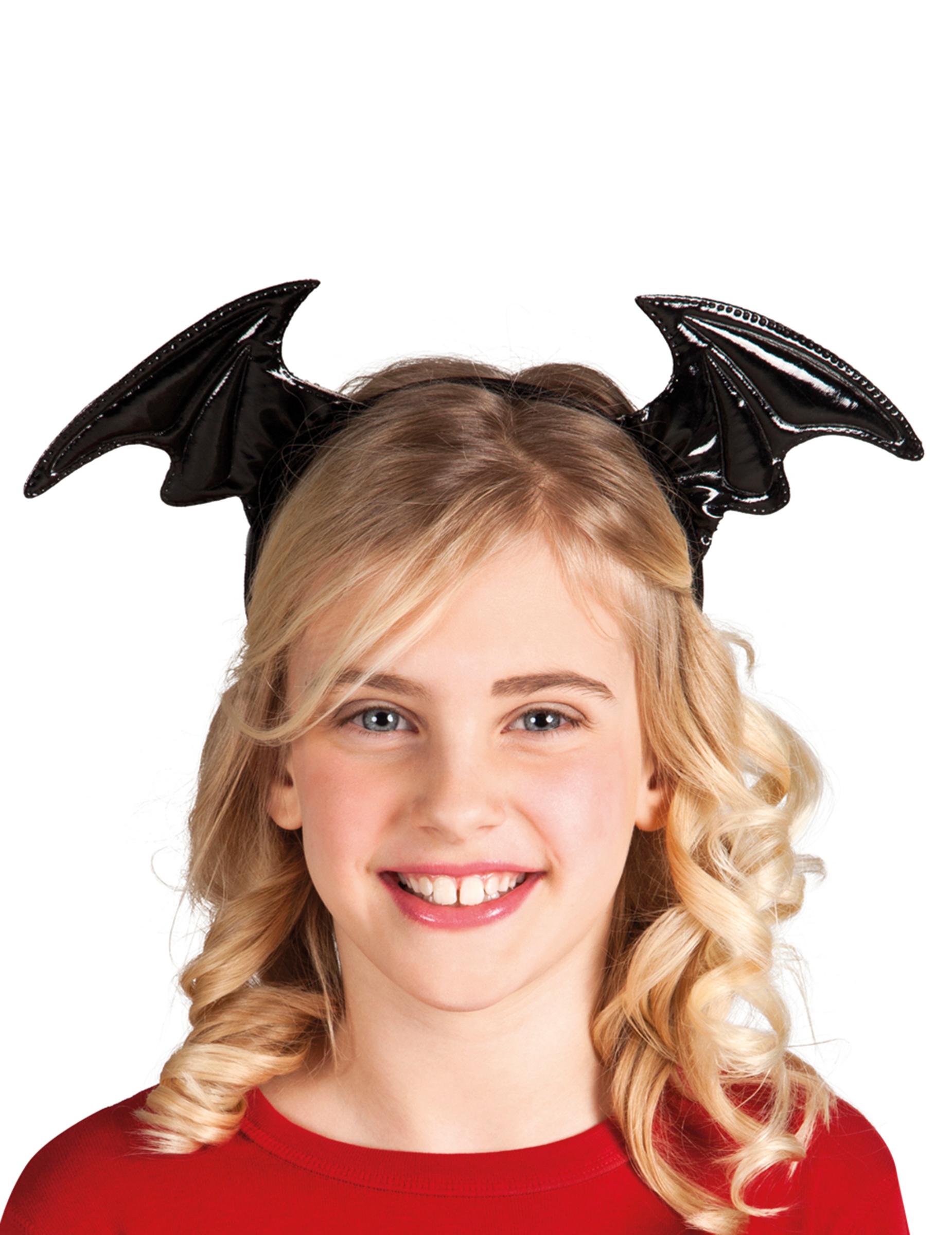 Halloween Haarreif Mit Fledermausflugeln Kostum Accessoire Fur
