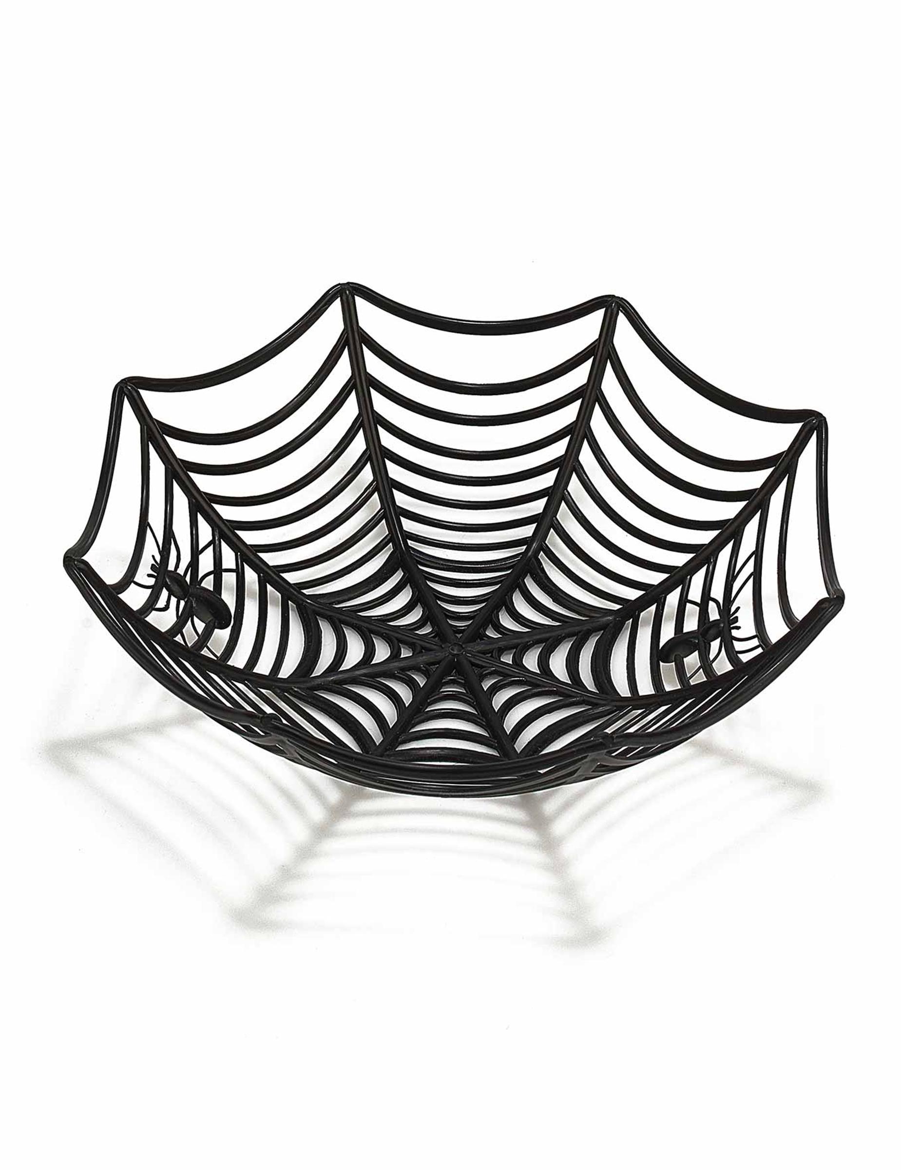 Spinnennetz schale halloween deko schwarz 27cm g nstige faschings partydeko zubeh r bei - Deko tablett schwarz ...