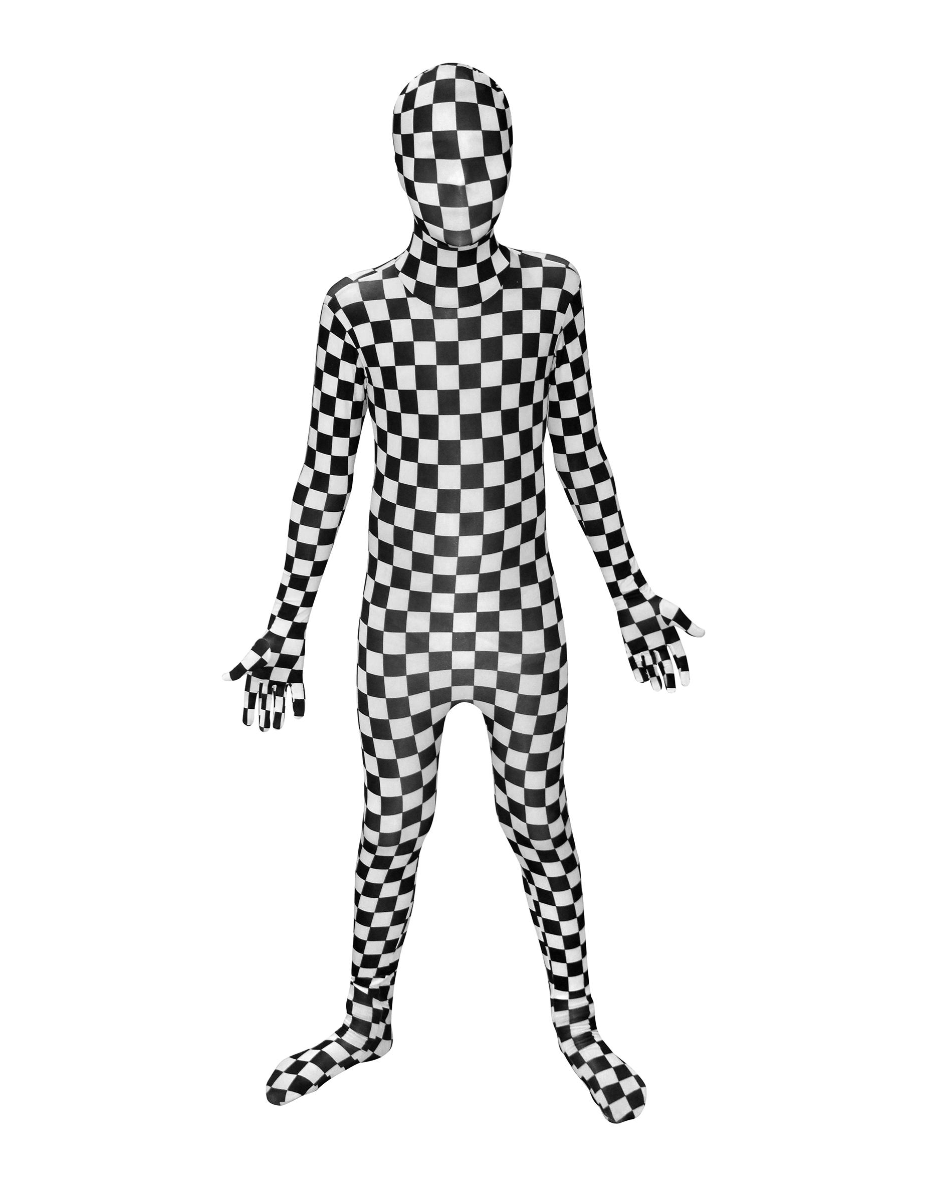 Karo Kinder Morphsuit Schwarz Weiss Gunstige Faschings Kostume Bei