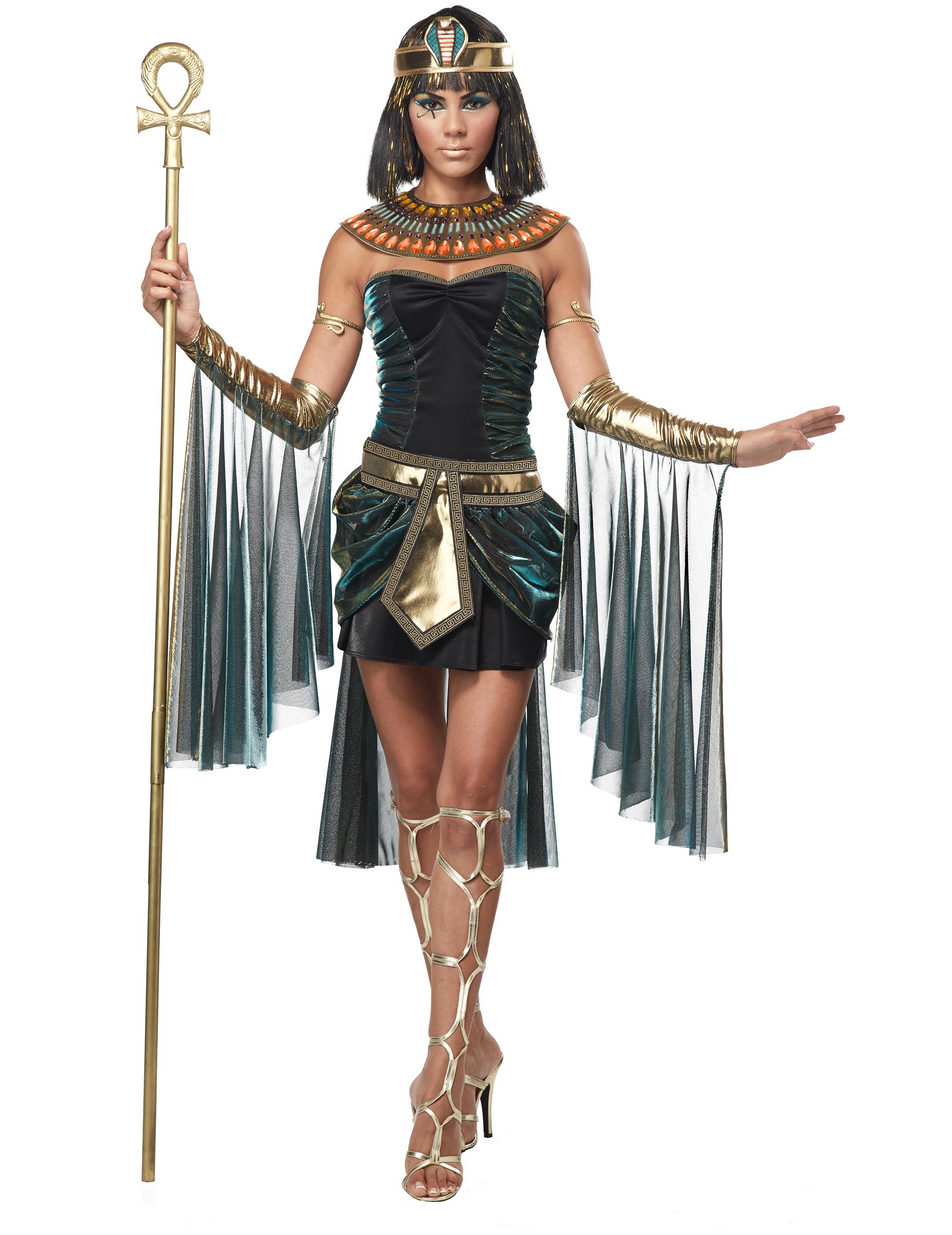 Sexy Cleopatra Damenkostum Antike Schwarz Gold Gunstige Faschings