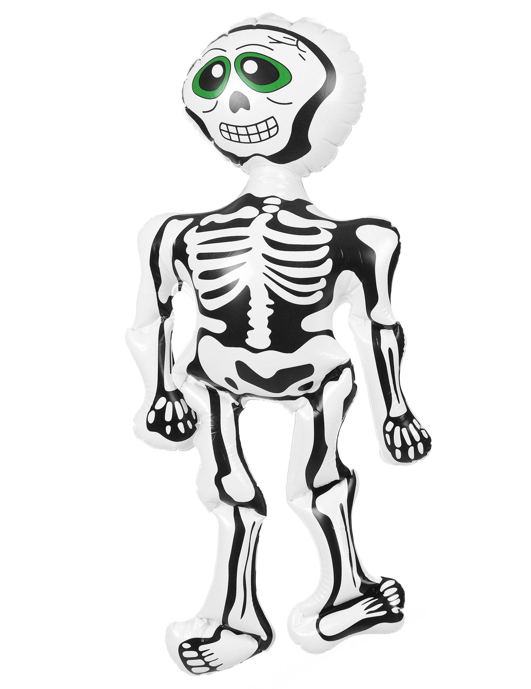 Aufblasbares Skelett Halloween Deko Weiss Schwarz Grun Gunstige