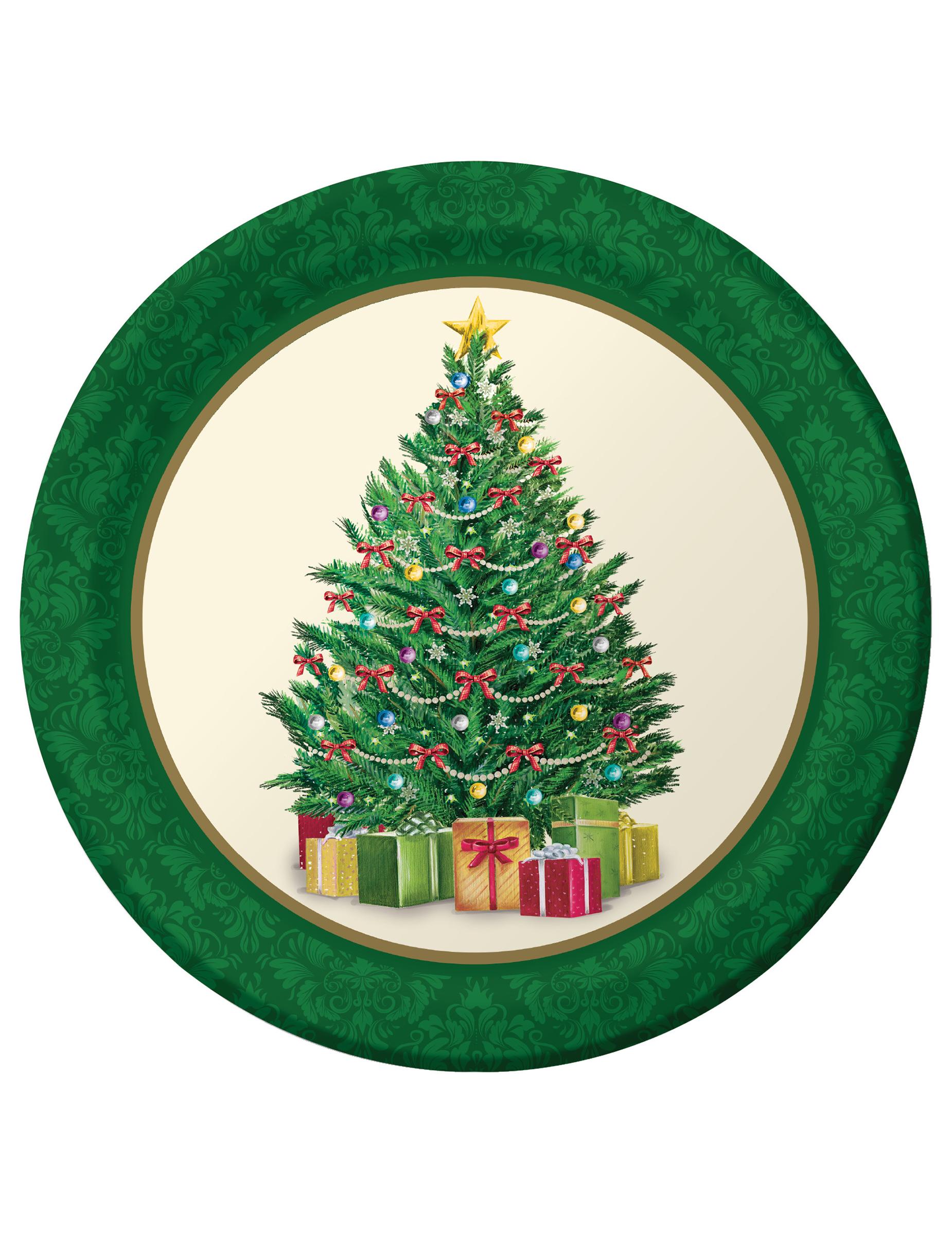 pappteller weihnachten 8 st ck bunt 23cm g nstige. Black Bedroom Furniture Sets. Home Design Ideas