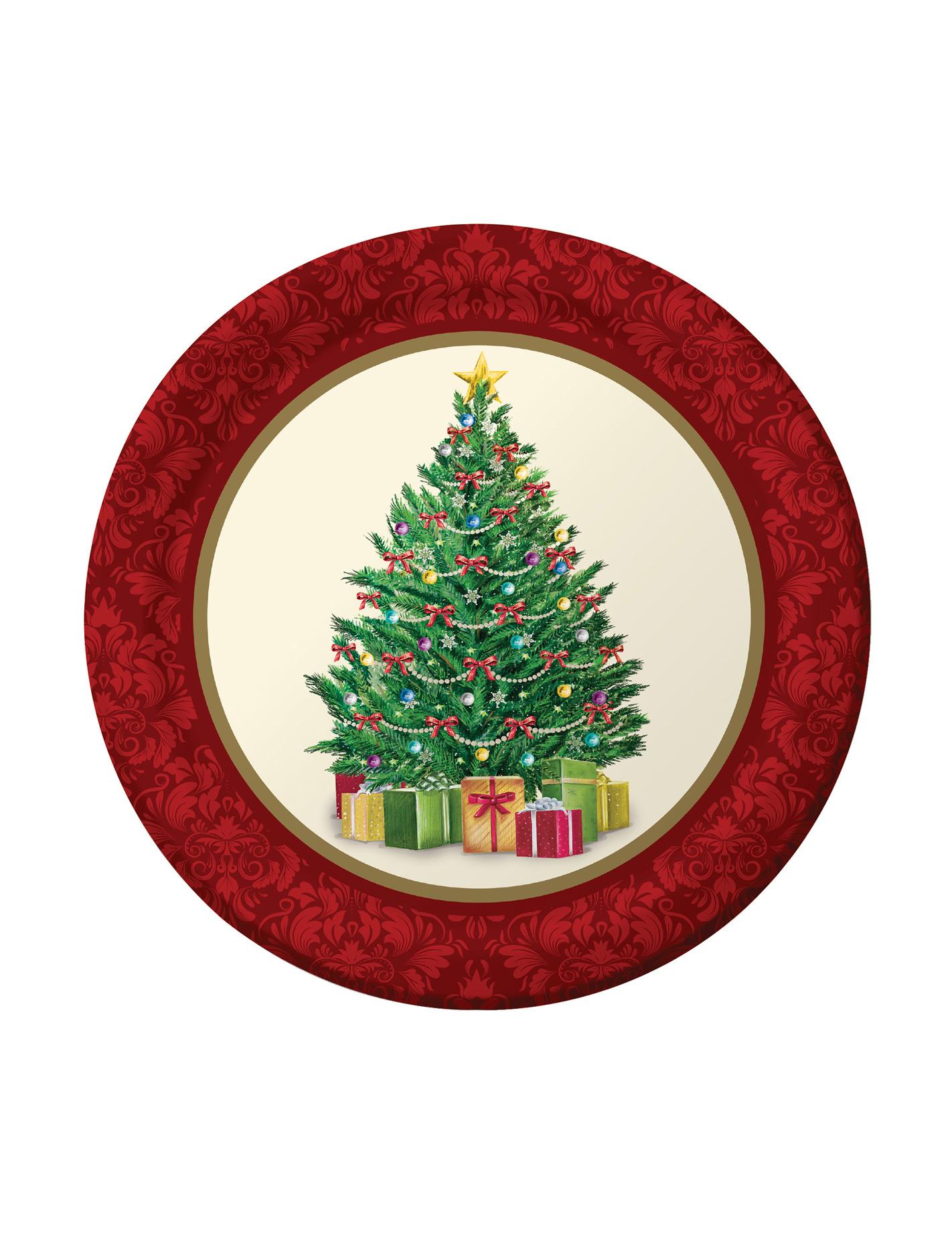 pappteller klein weihnachten 8 st ck bunt 17cm g nstige. Black Bedroom Furniture Sets. Home Design Ideas
