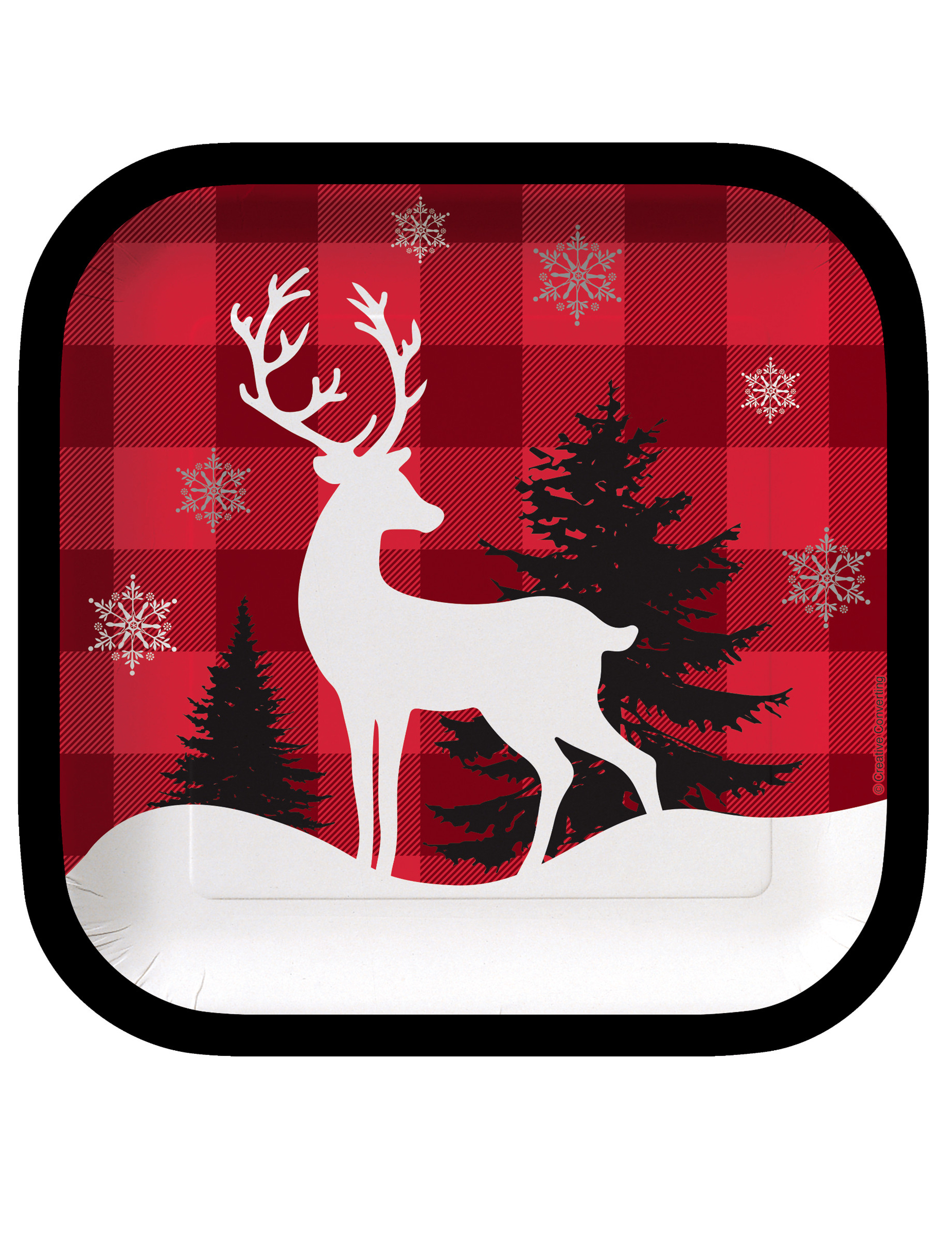 pappteller klein quadratisch weihnachten 8 st ck 17cm. Black Bedroom Furniture Sets. Home Design Ideas