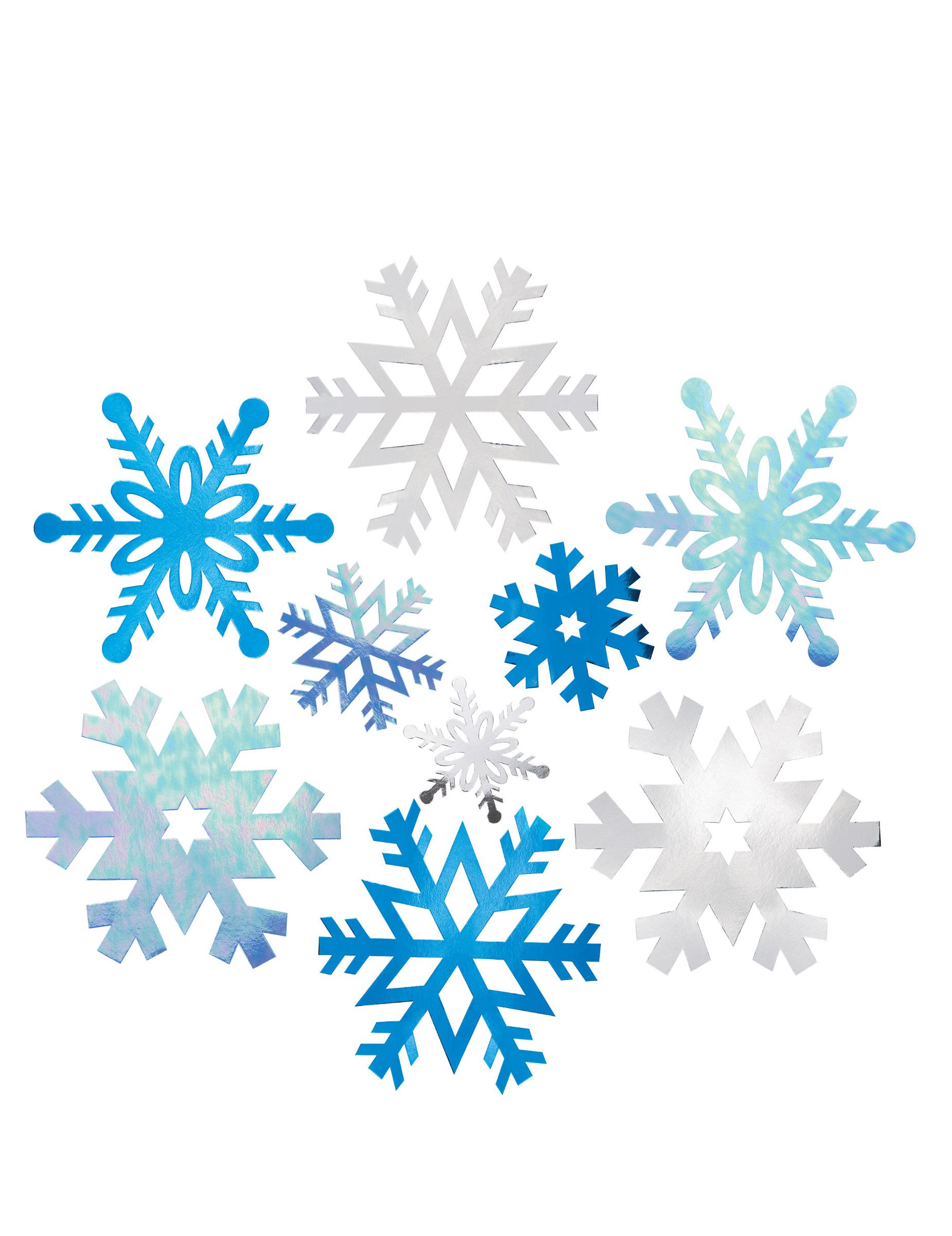 Schneeflocken Deko Zum Aufhängen 12 Teilig