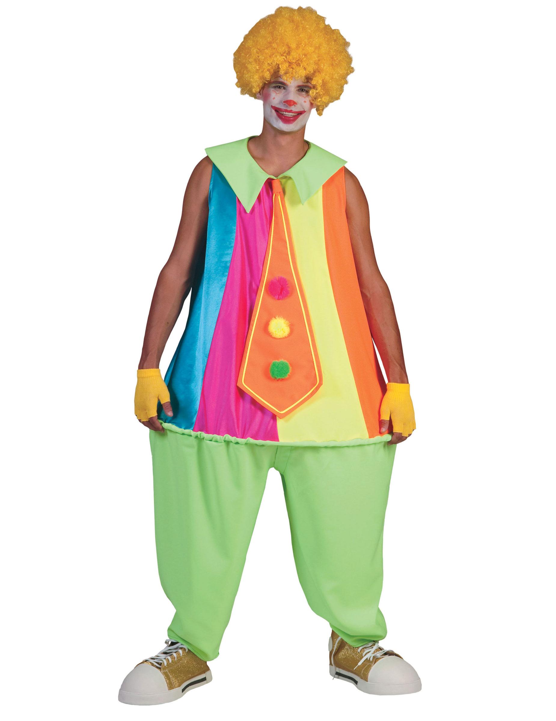 Clown Kostum Fur Erwachsene Bunt Gunstige Faschings Kostume Bei