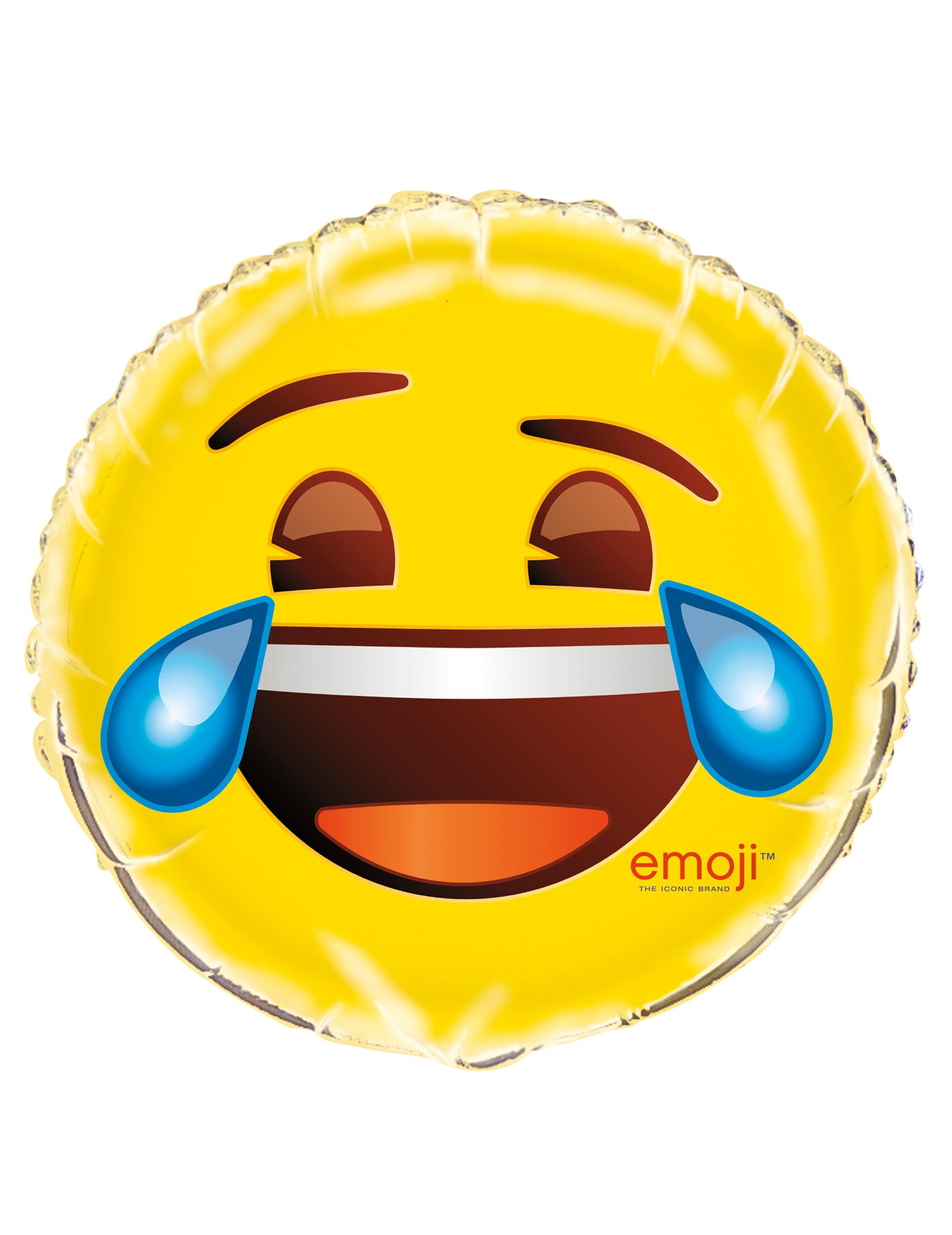 Emoji Aluminiumballon Lachendes Gesicht Gunstige Faschings