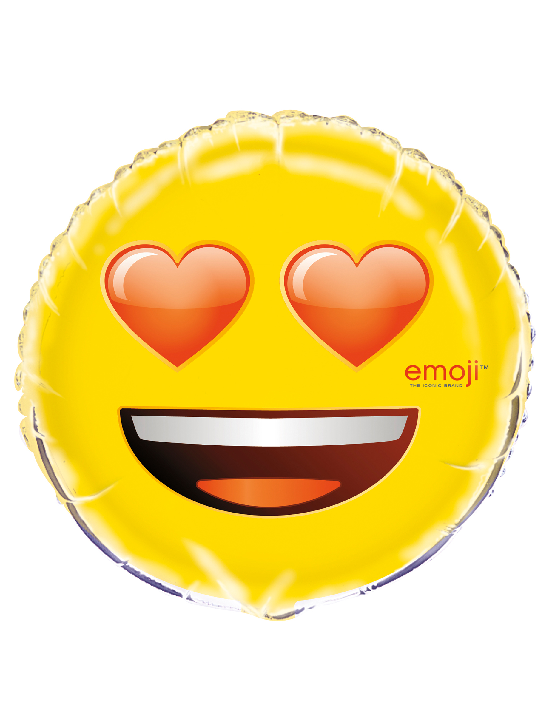 Emoji Folienballon Gelb Gunstige Faschings Partydeko Zubehor Bei