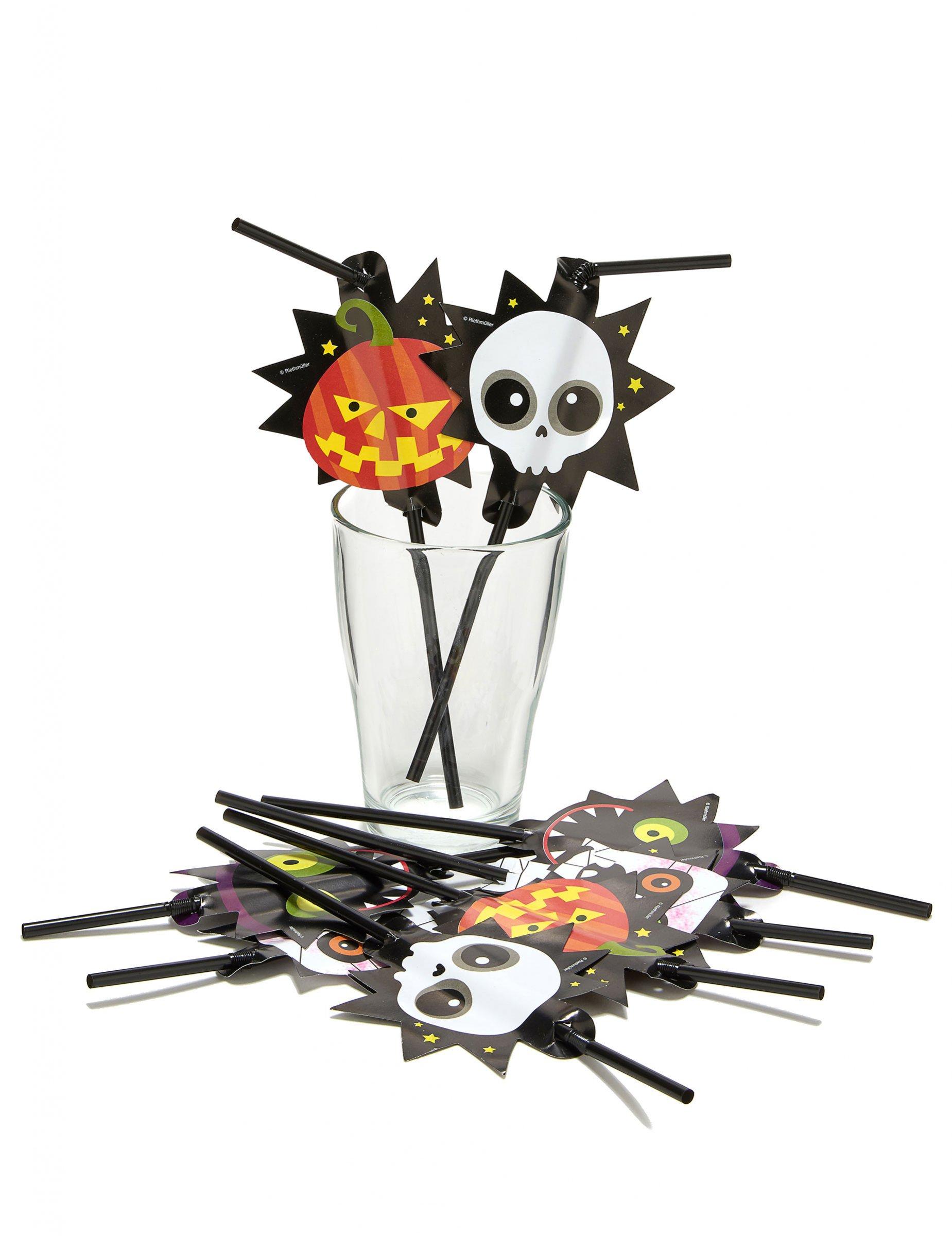 s sse monster strohhalm set halloween party deko bunt 8. Black Bedroom Furniture Sets. Home Design Ideas