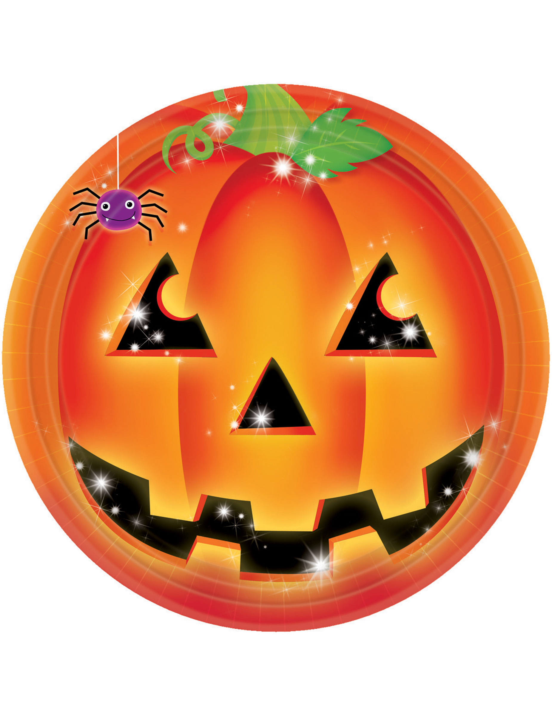 K rbis teller halloween tischdeko 8 st ck orange schwarz 23cm g nstige faschings partydeko - Tischdeko kurbis ...