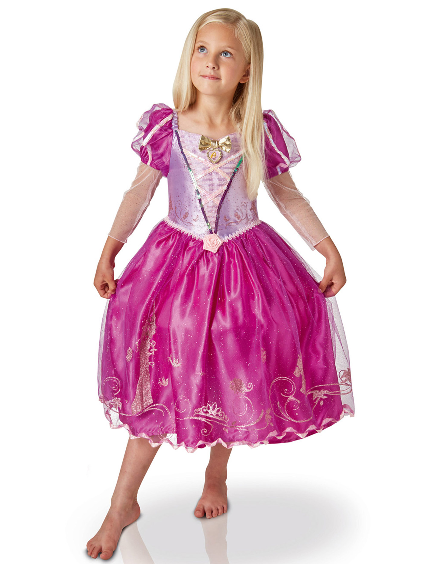 Offizielles Disneys Rapunzel Madchen Ballkleid Prinzessin Pink