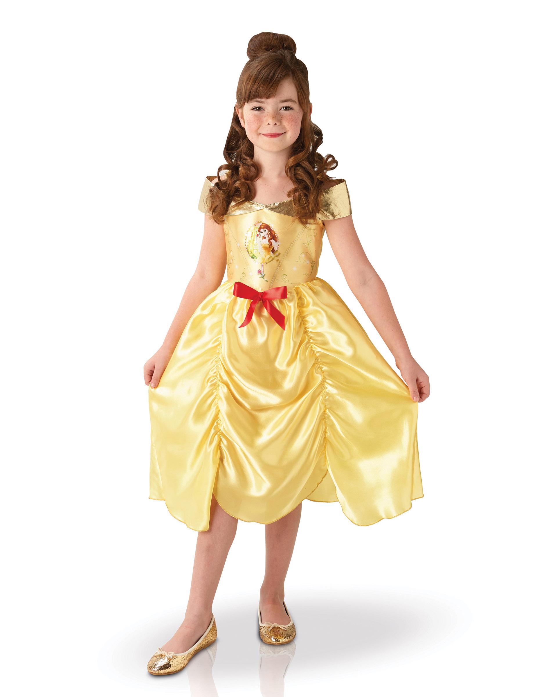 Original Belle Die Schone Und Das Biest Madchen Kostum Gelb Gold