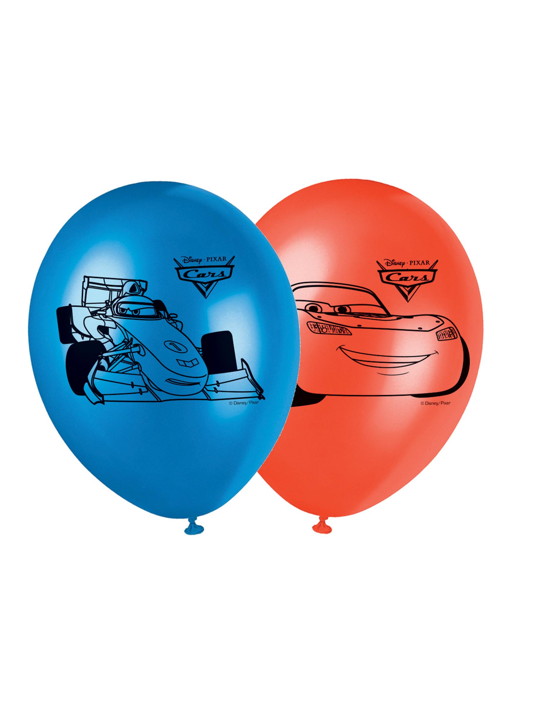 Luftballons Lizenzware Cars 8 Stück blau-rot
