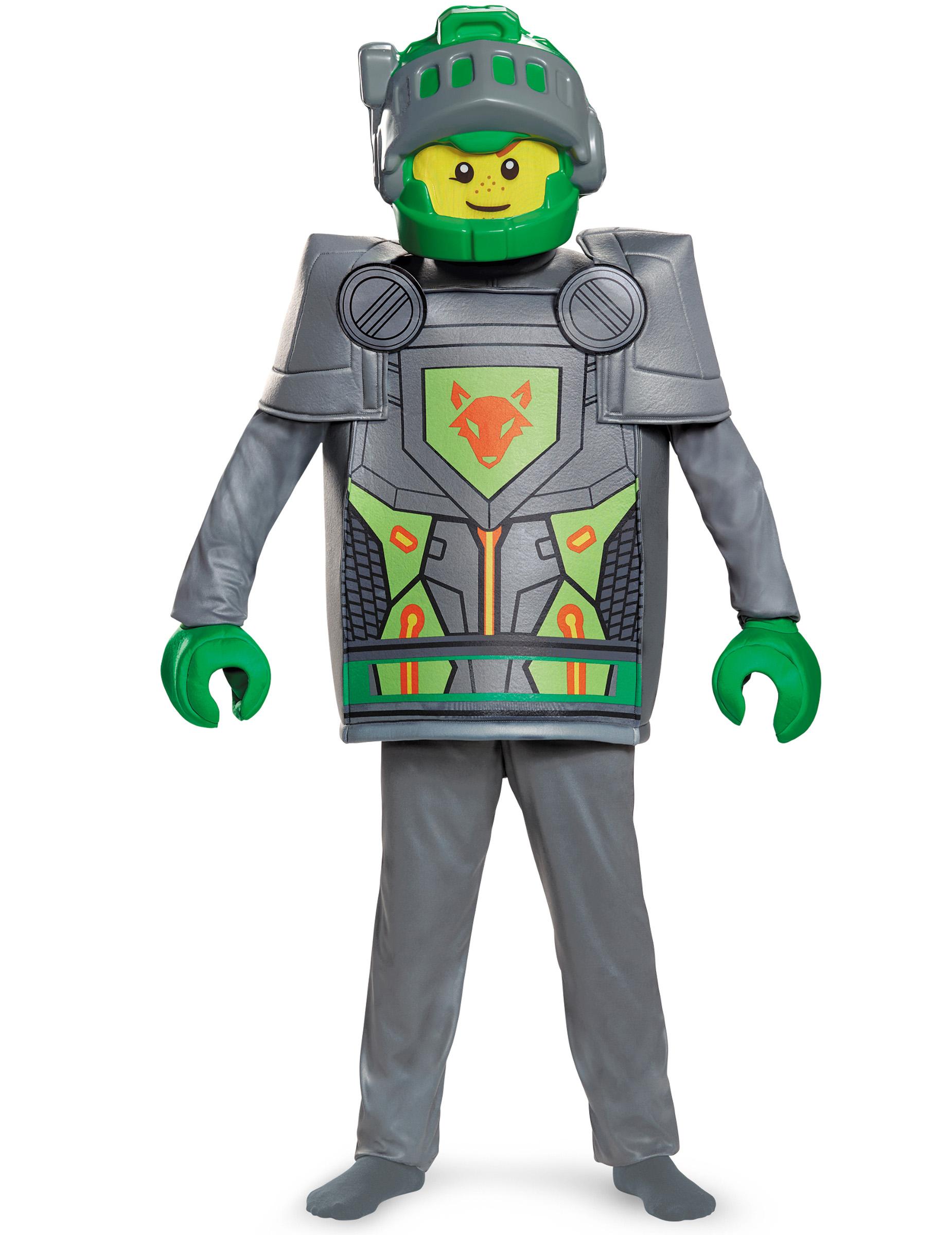 Aaron Nexo Knights Lego Kinderkostüm Grau Grün